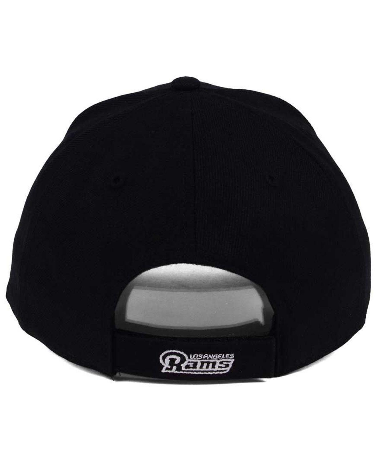 Lyst - 47 Brand Los Angeles Rams Overrun Mvp Cap in Black for Men e4850b28dab8