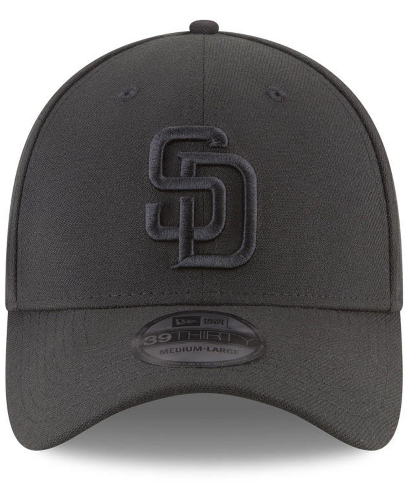 buy online cc4b3 1730f KTZ San Diego Padres Blackout 39thirty Cap in Black for Men - Lyst