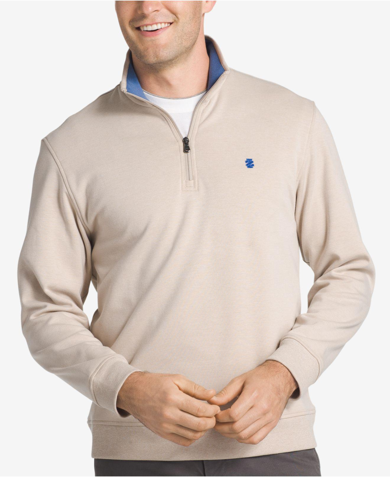Quarter Zip Advantage Men's Izod Sweater Lyst Natural In Stretch Hq6In1