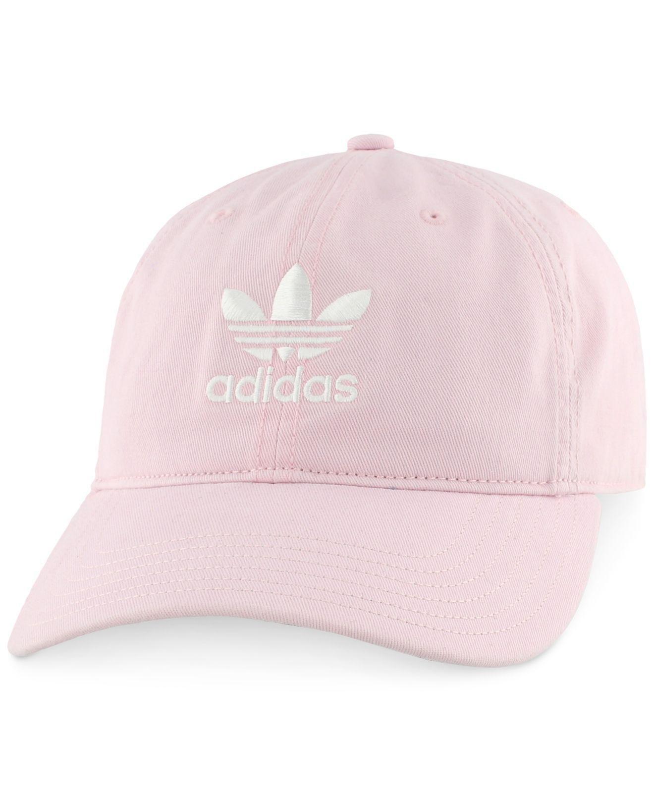 Lyst - Adidas Originals Relaxed Six-panel Cap in Pink for Men adbdec740118