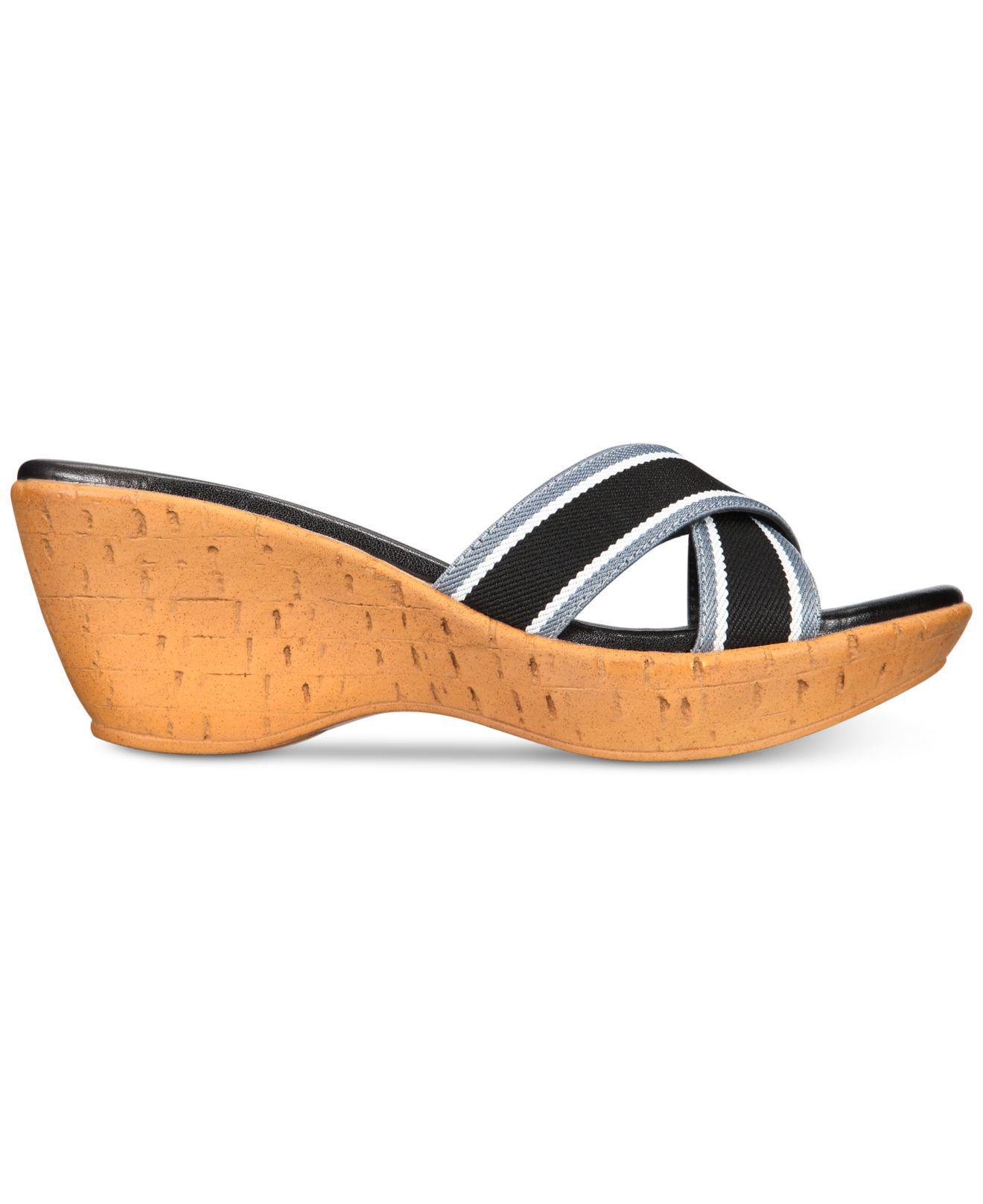 3e3ff6fd7fcd Lyst - Callisto Segway Slide Platform Wedge Sandals