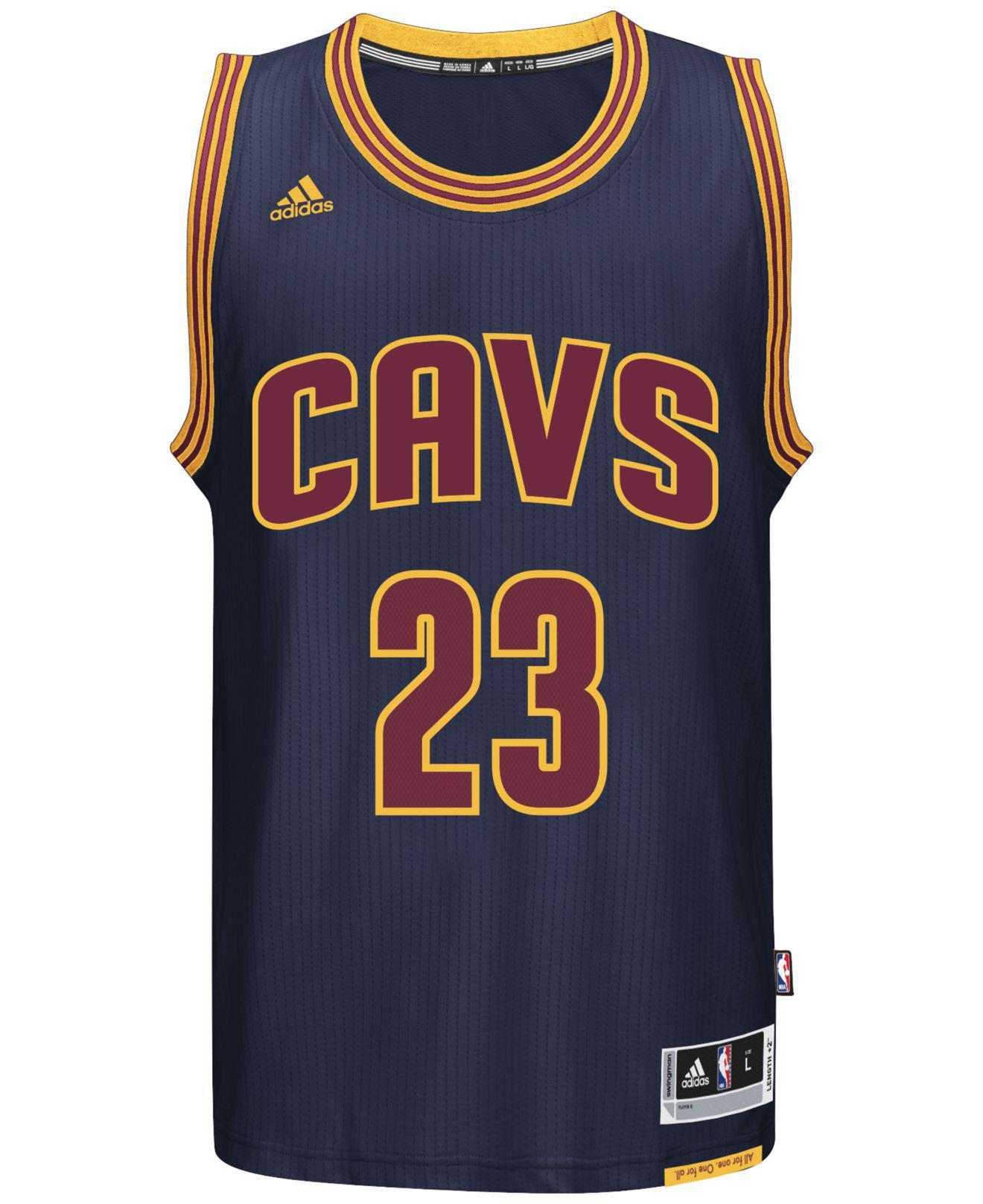 adidas Synthetic Men's Lebron James Cleveland Cavaliers Swingman ...