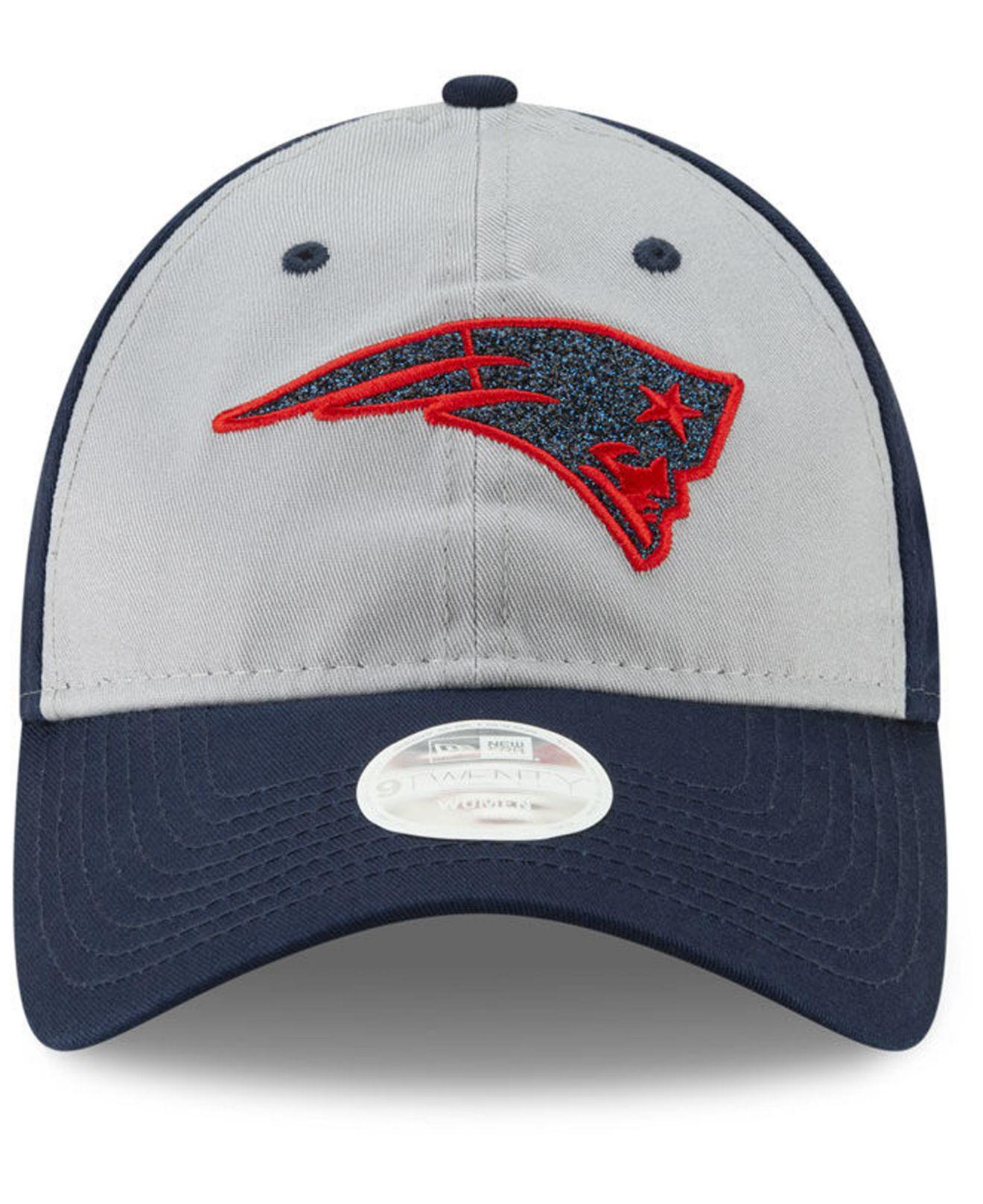 new style f28d2 dd228 ... promo code for lyst ktz new england patriots gray glitter 9twenty cap  in blue b882c 06a47
