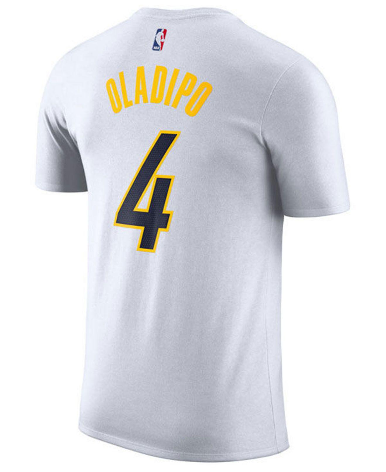 cf5fe5ec74d Lyst - Nike Victor Oladipo Indiana Pacers Earned Edition Player T-shirt in  White for Men