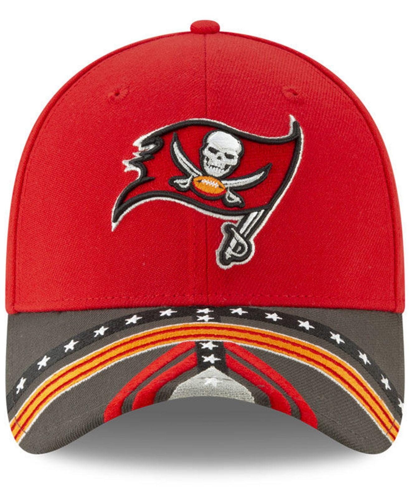 cheaper 52492 43510 Lyst - KTZ Tampa Bay Buccaneers Draft 39thirty Stretch Fitted Cap in Red  for Men