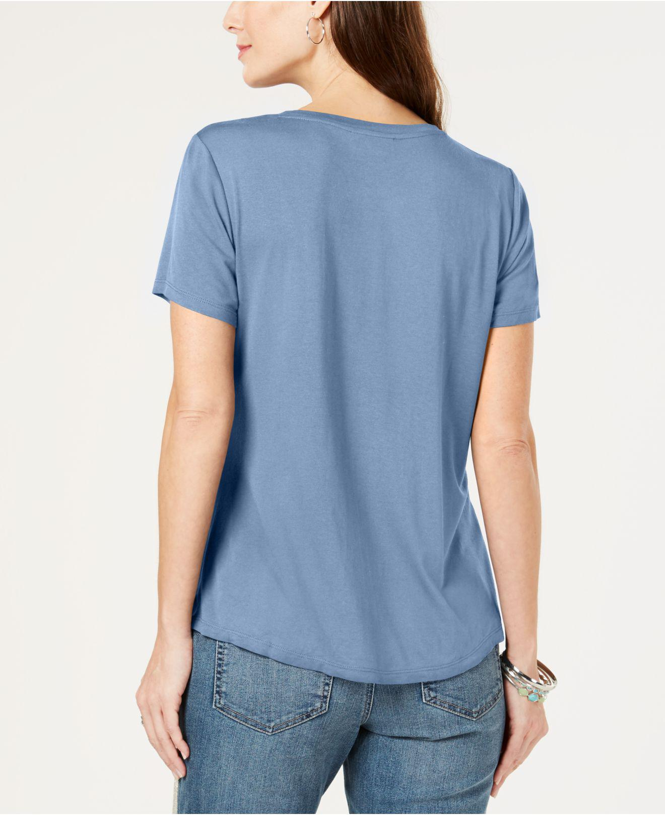 97adcdefd3e67 Lyst - Style   Co. Twist-front Top