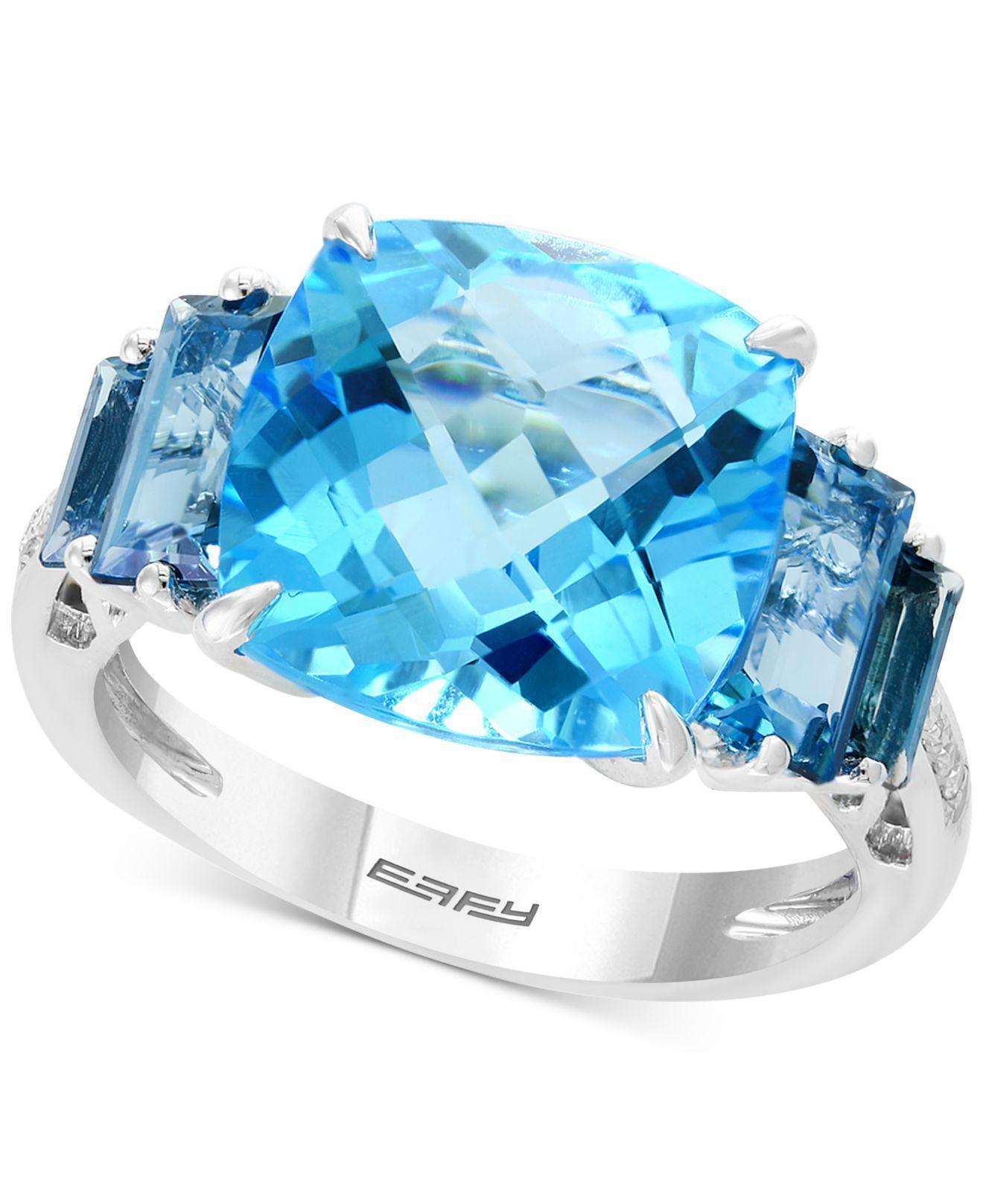 Effy Effy® Blue Topaz (10-1/5 Ct. T.w.) & Diamond Accent
