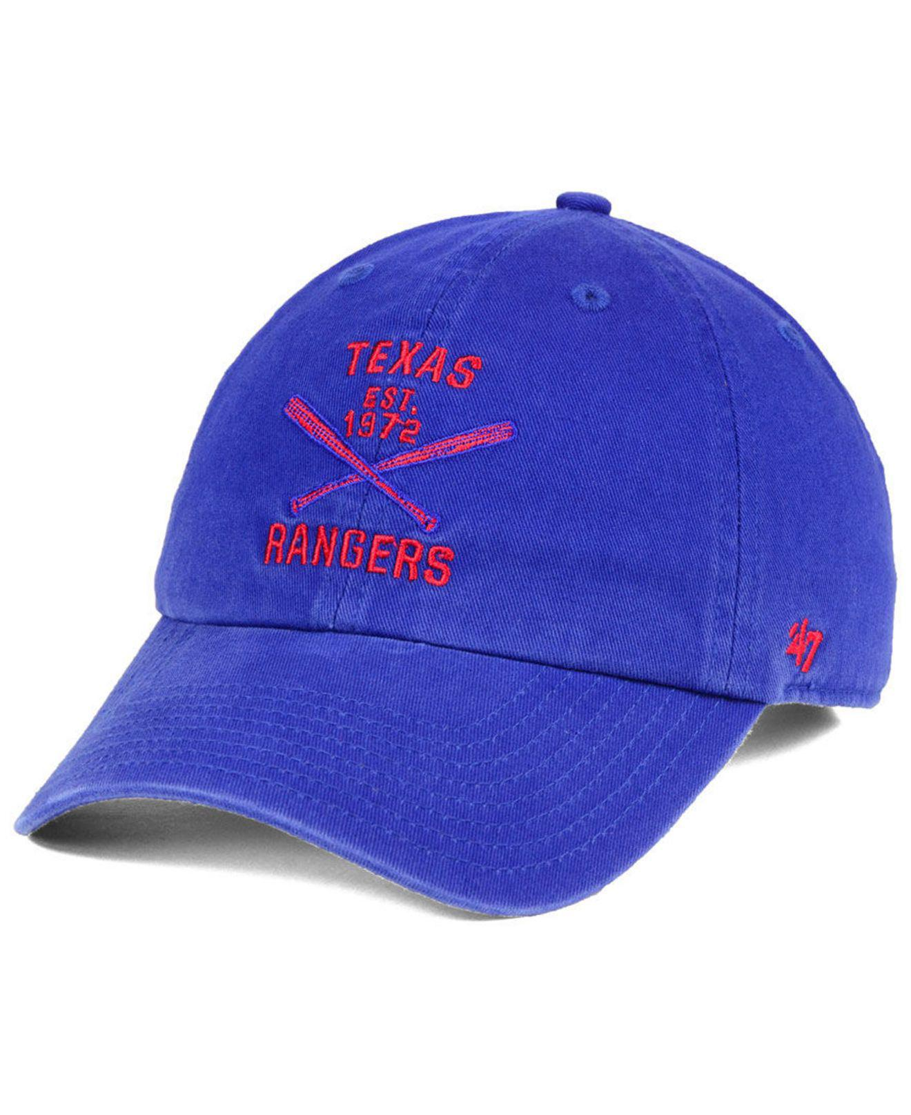 new style 870a5 f0dfb ... denmark 47 brand. mens blue texas rangers axis clean up cap 2129d 31dea