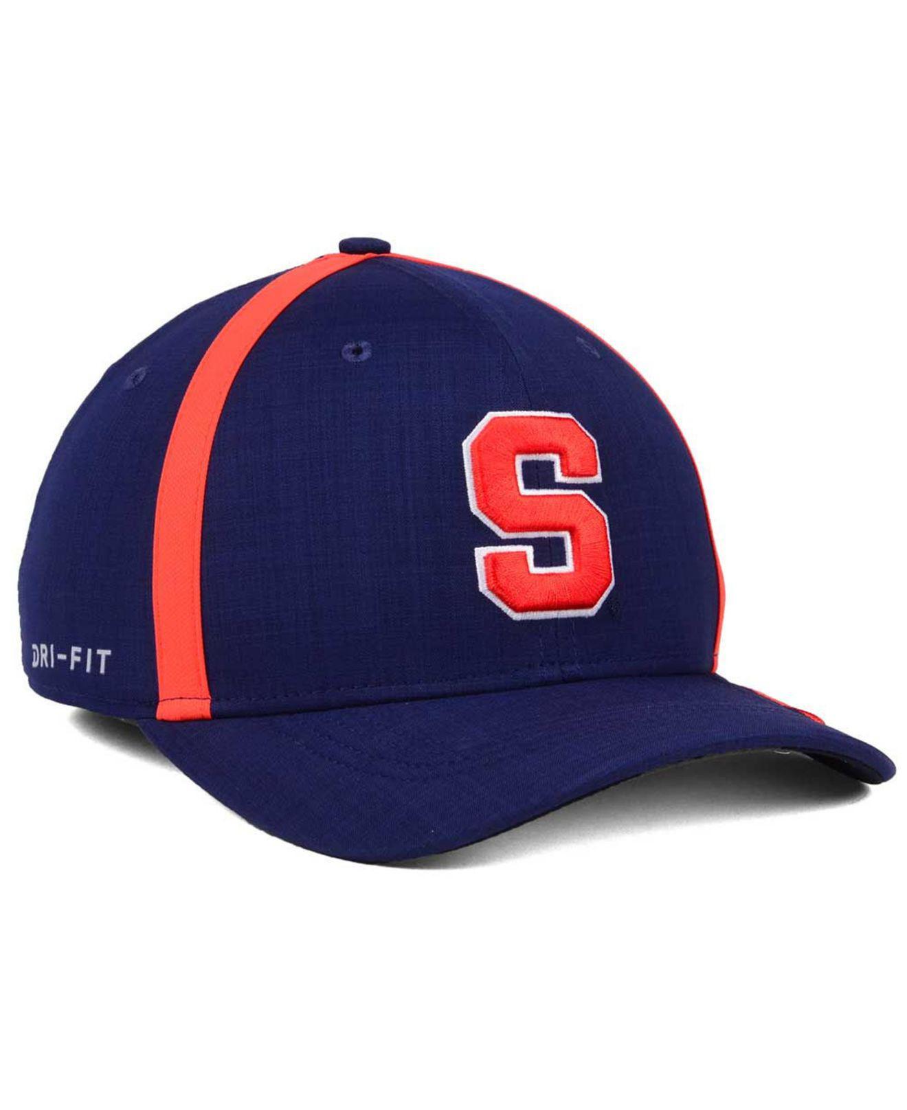 ed785342104a ... shopping nike blue aerobill classic sideline swoosh flex cap for men  lyst. view fullscreen 3ef82