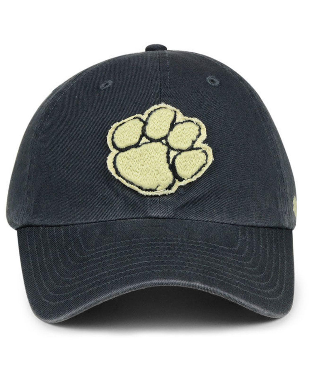 big sale 5ee38 3dbbd Lyst - 47 Brand Clemson Tigers Double Out Clean Up Cap in Blue for Men