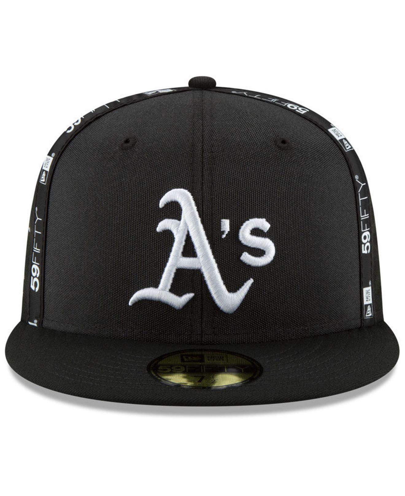 newest collection 9a42d be931 ... coupon for lyst ktz oakland athletics inside out 59fifty fitted cap in  black for men ae06c