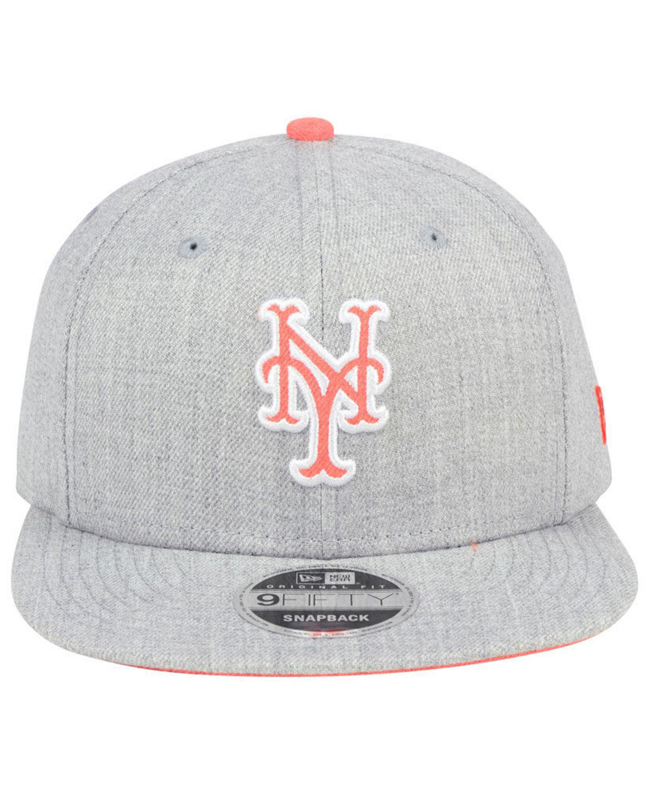 new arrival dd751 64440 ... 50% off lyst ktz new york mets heather hype 9fifty snapback cap in gray  01e9d