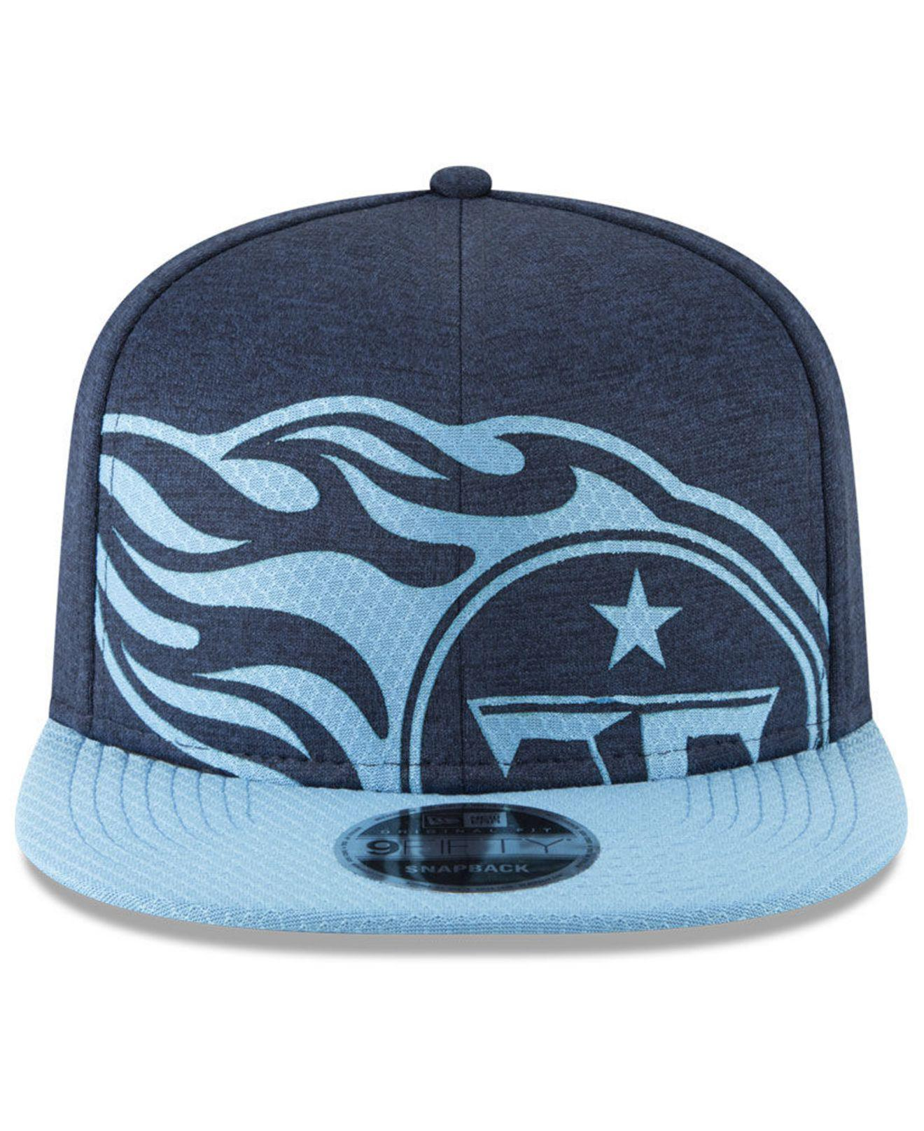 fdfb506928e Lyst - Ktz Tennessee Titans Oversized Laser Cut 9fifty Snapback Cap in Blue  for Men