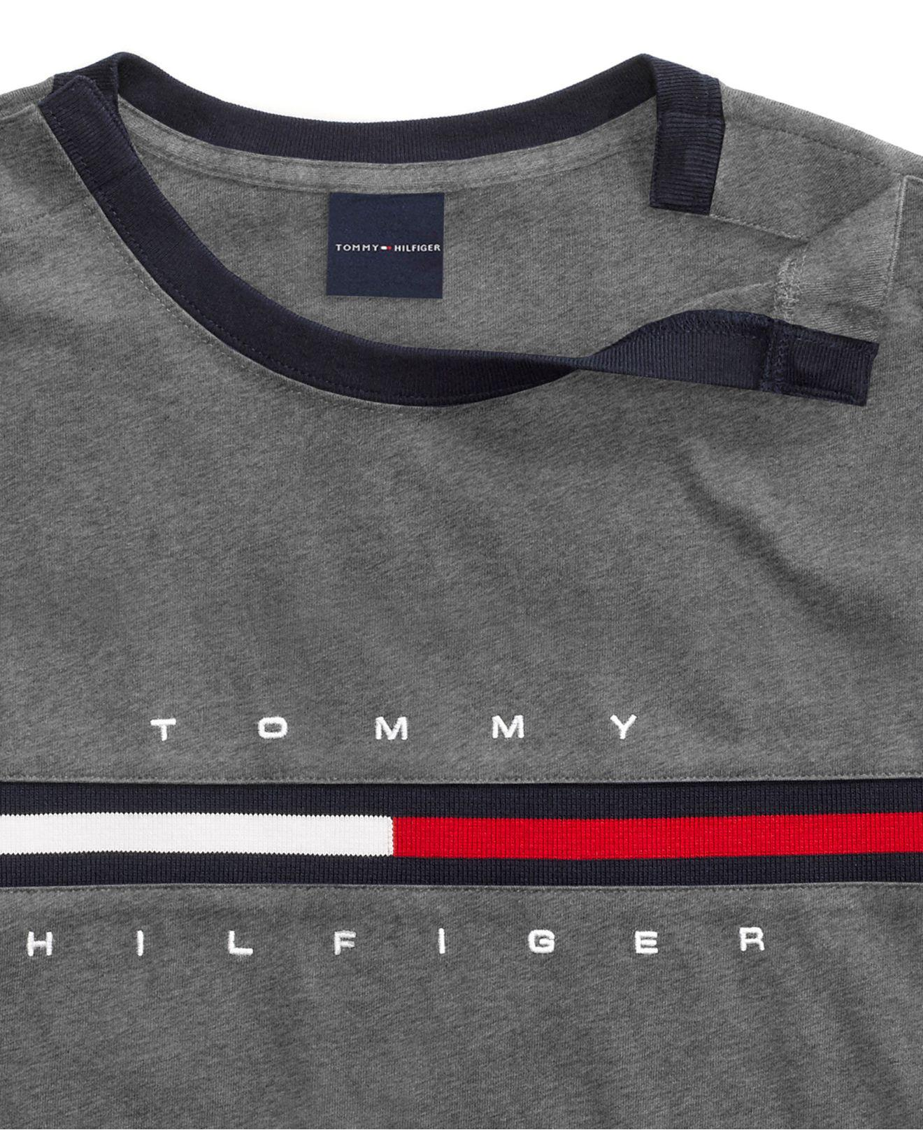 248469f9 Tommy Hilfiger - Gray Tino T-shirt With Magnetic Closure At Shoulders for  Men -. View fullscreen