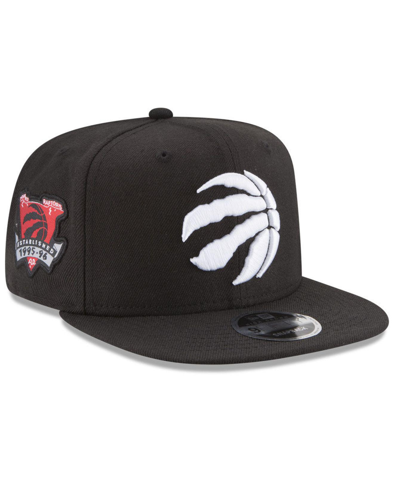 5576f78d73c ... best price ktz black toronto raptors anniversary patch 9fifty snapback  cap for men lyst. view
