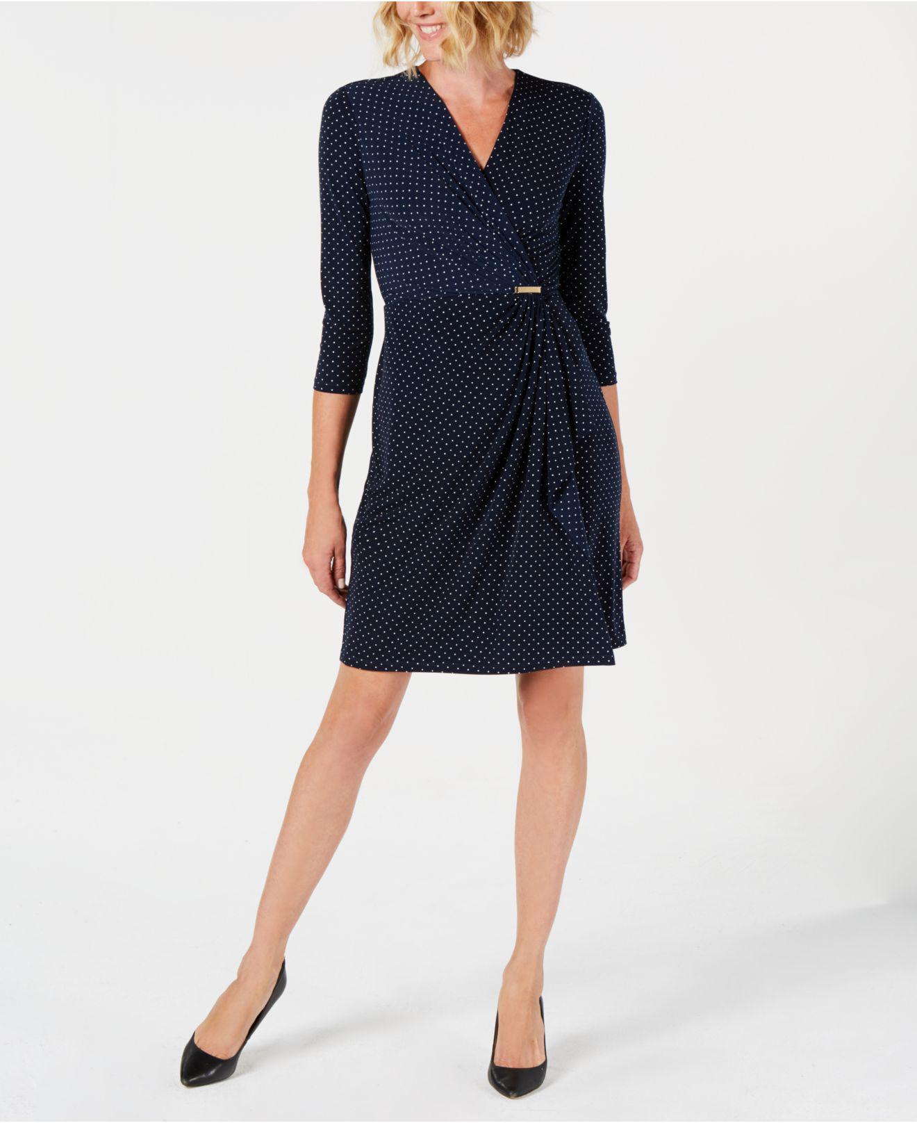 68c5f63c43 Lyst - Charter Club Petite Faux-wrap Dress