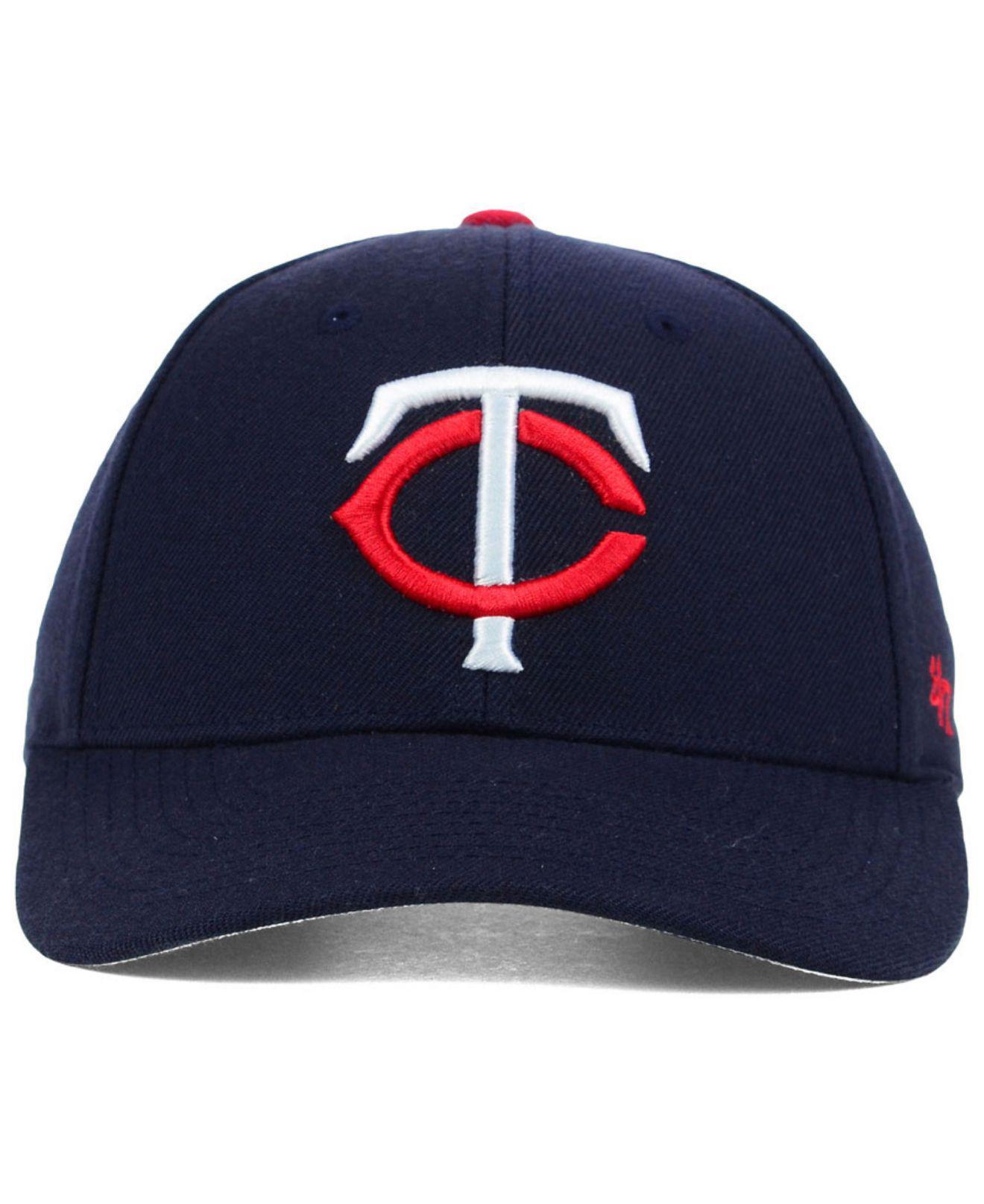 online store c872f 4c13d ... best lyst 47 brand minnesota twins mvp curved cap in blue for men f1cb2  a8d70