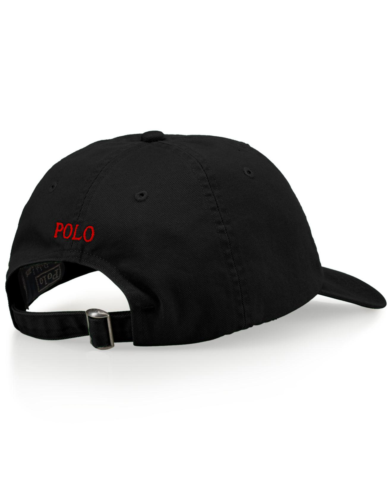 6b0e0cc99d03c Polo Ralph Lauren Classic Sport Cap in Black for Men - Save 33% - Lyst