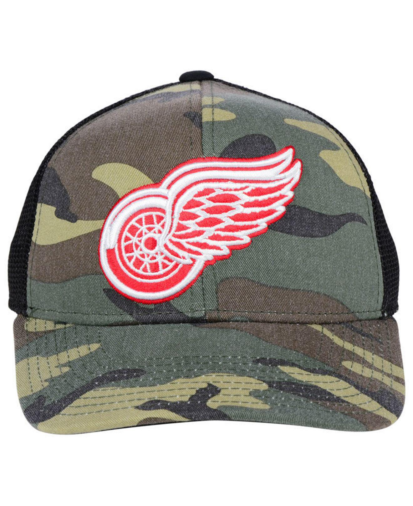 85a736258d3 ... adjustable hat cb036 a97a4  sale lyst adidas detroit red wings camo  trucker cap for men ad5e4 df6bf