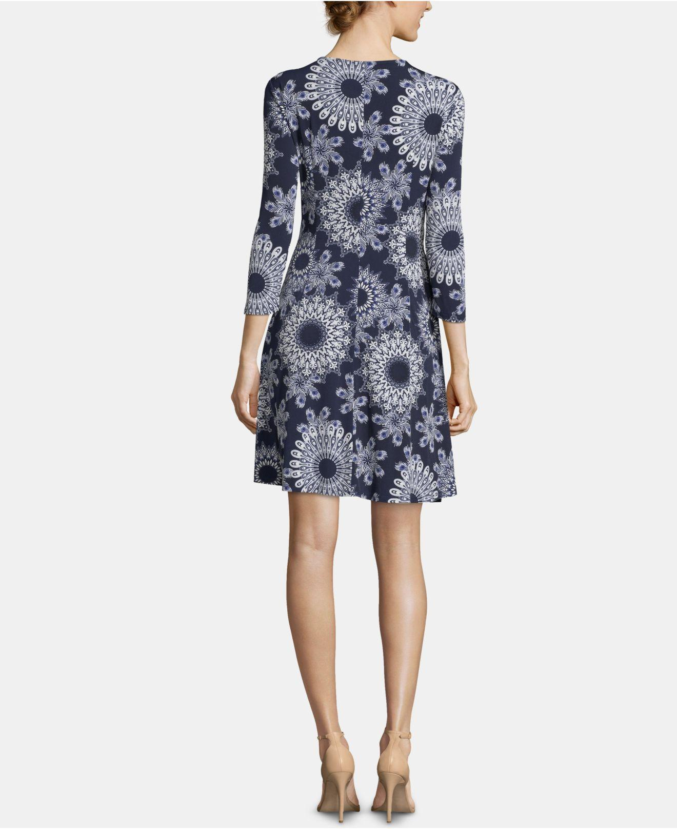 cce72aad Lyst - Eci Pull-on Printed Dress in Blue