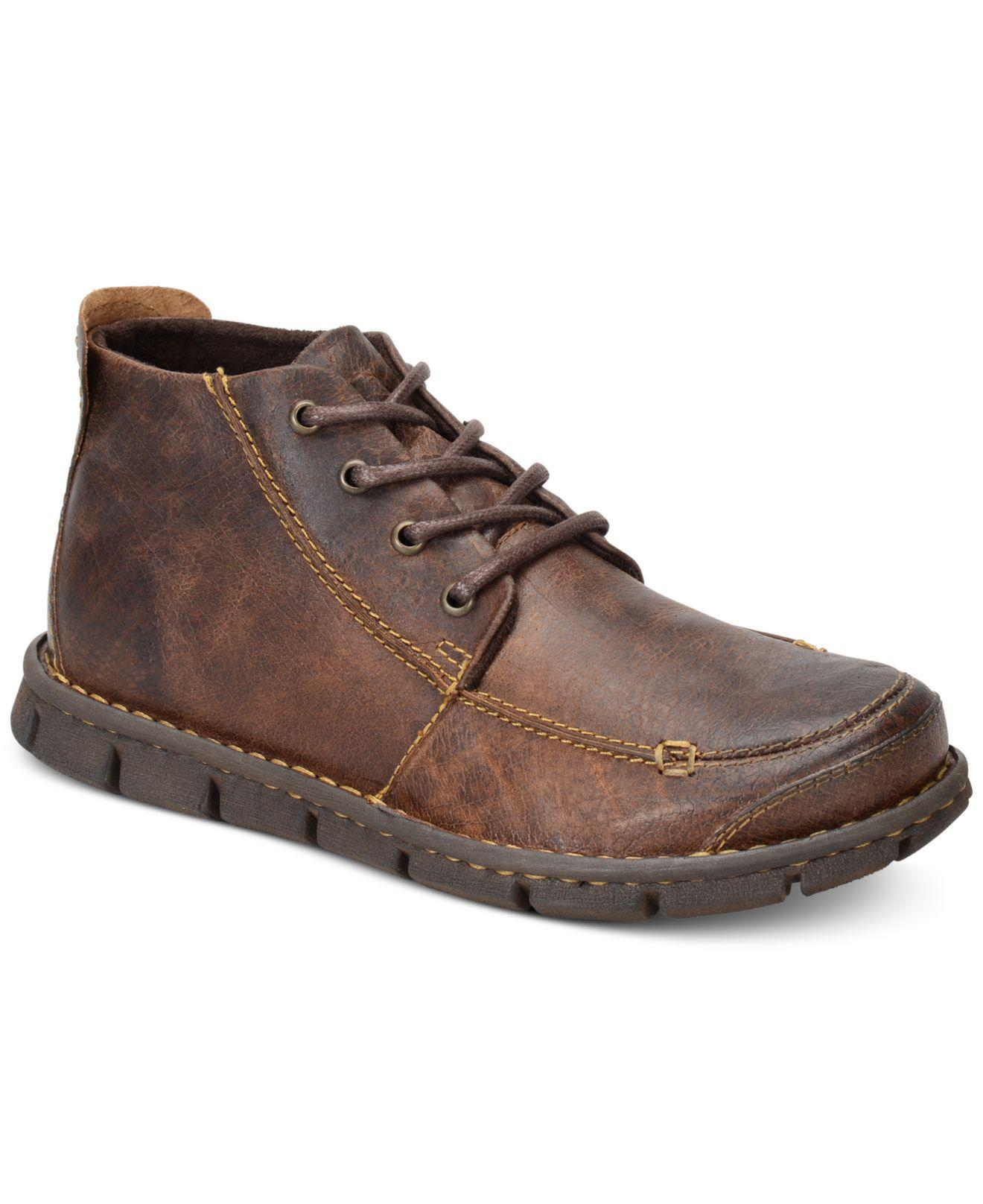 b159a2e17db Born Brown Men's Neuman Moc-toe Chukka Boots for men