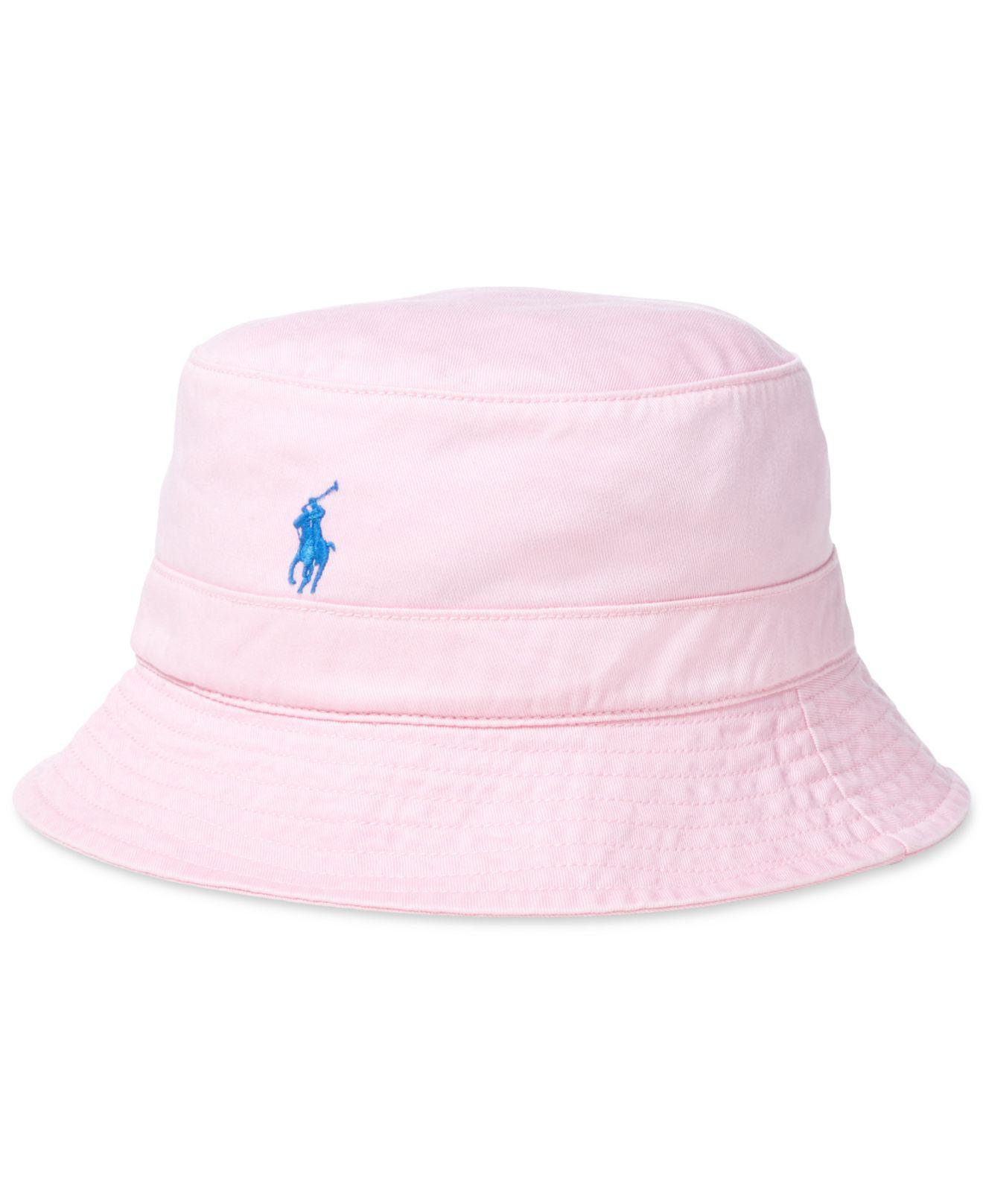 Medium polo ralph lauren bucket Hat Cotton Beach Pink Small