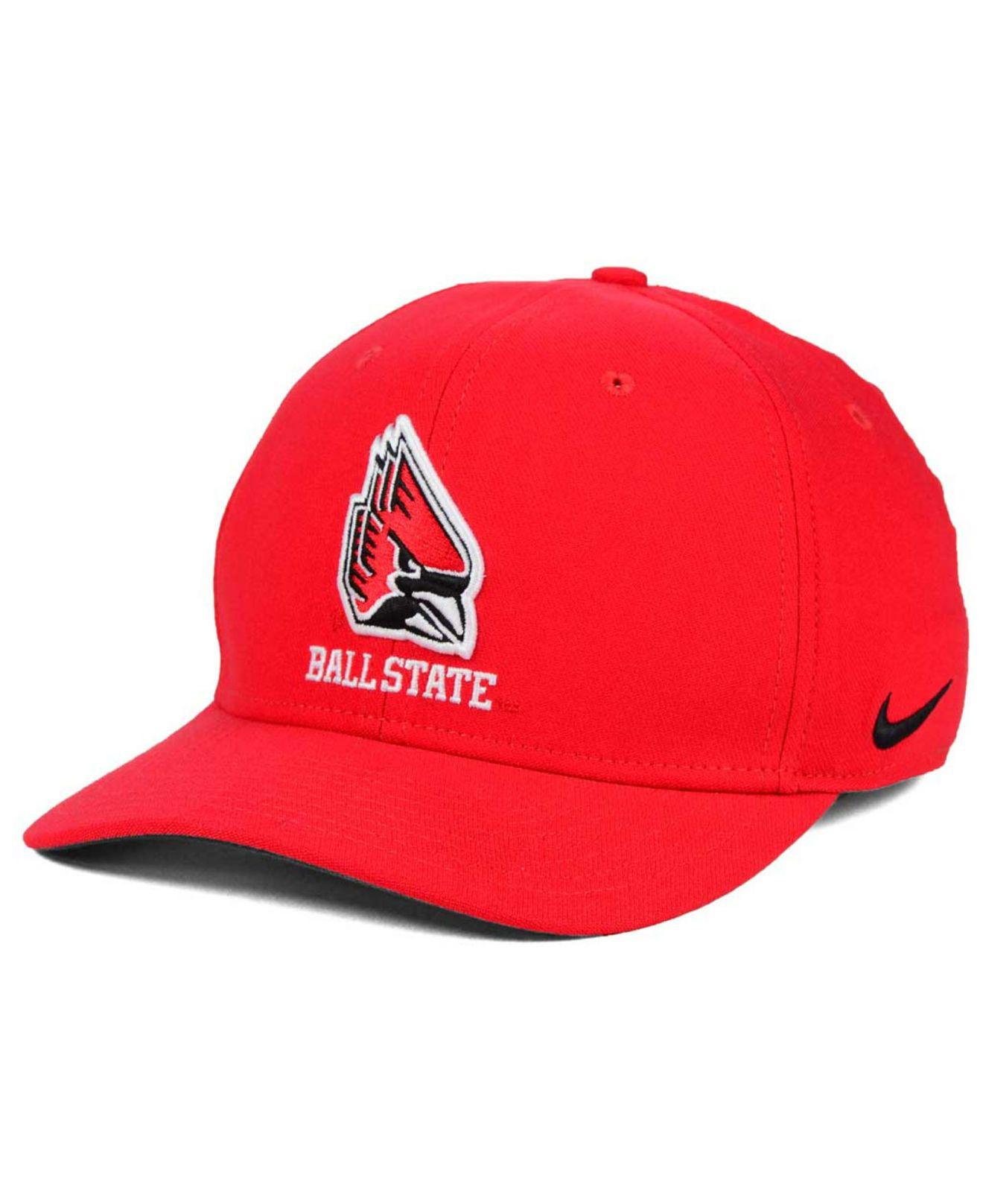 8e8b78018f9 Lyst - Nike Ball State Cardinals Classic Swoosh Cap in Red for Men