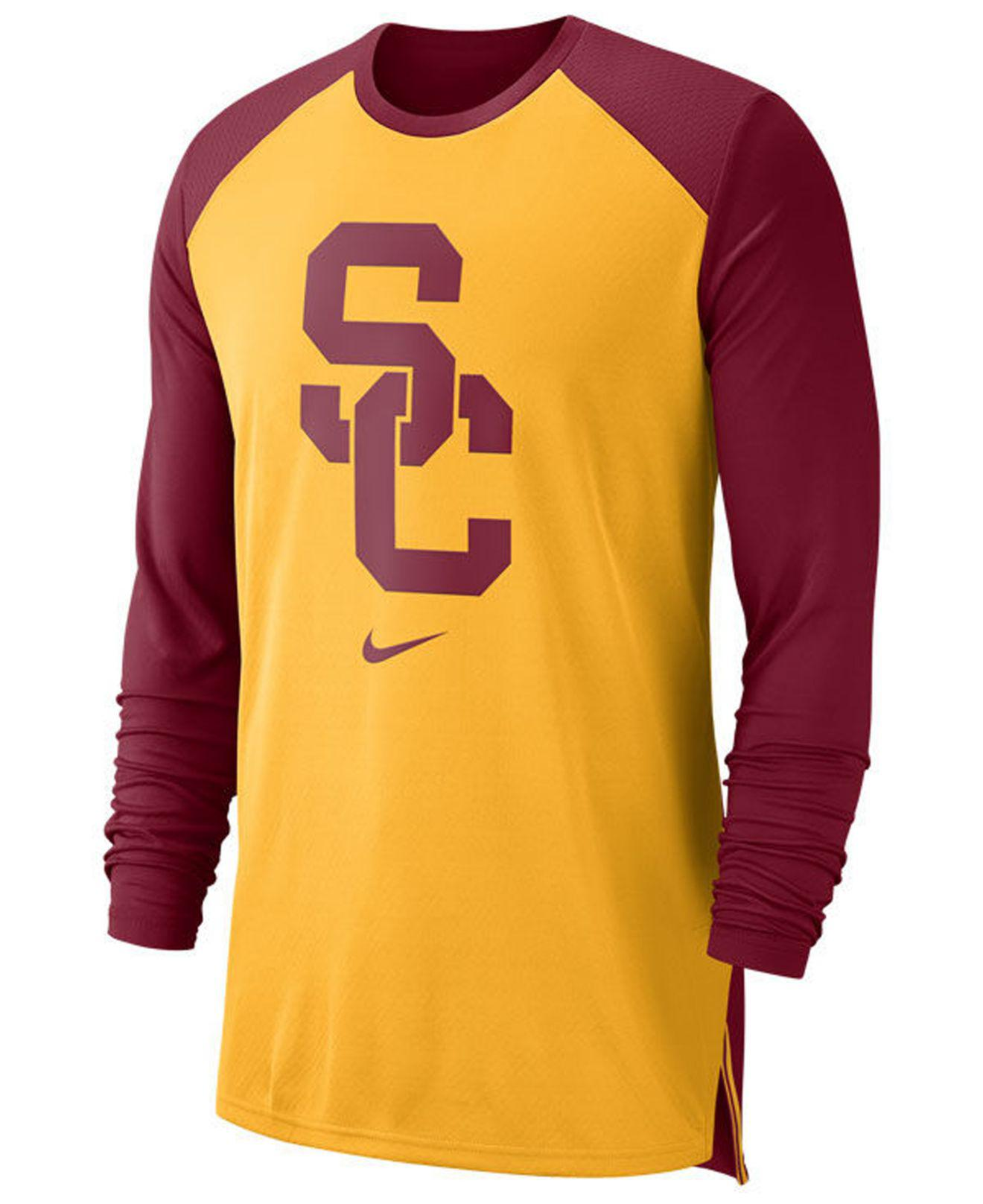 a355358e5 Lyst - Nike Usc Trojans Breathe Shooter Long Sleeve T-shirt for Men