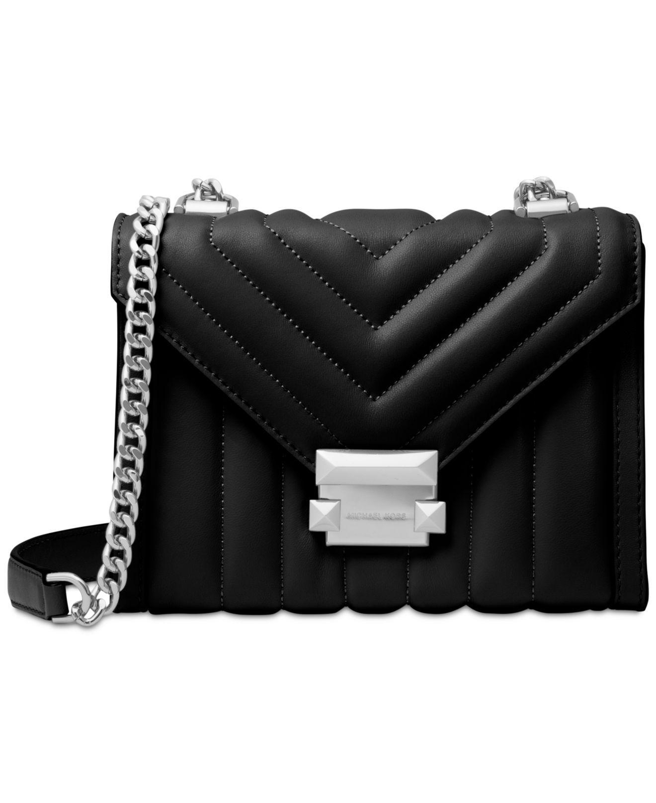 1bd909805432 Michael Kors. Women s Black Michael Whitney Mini Quilted Leather Shoulder  Bag