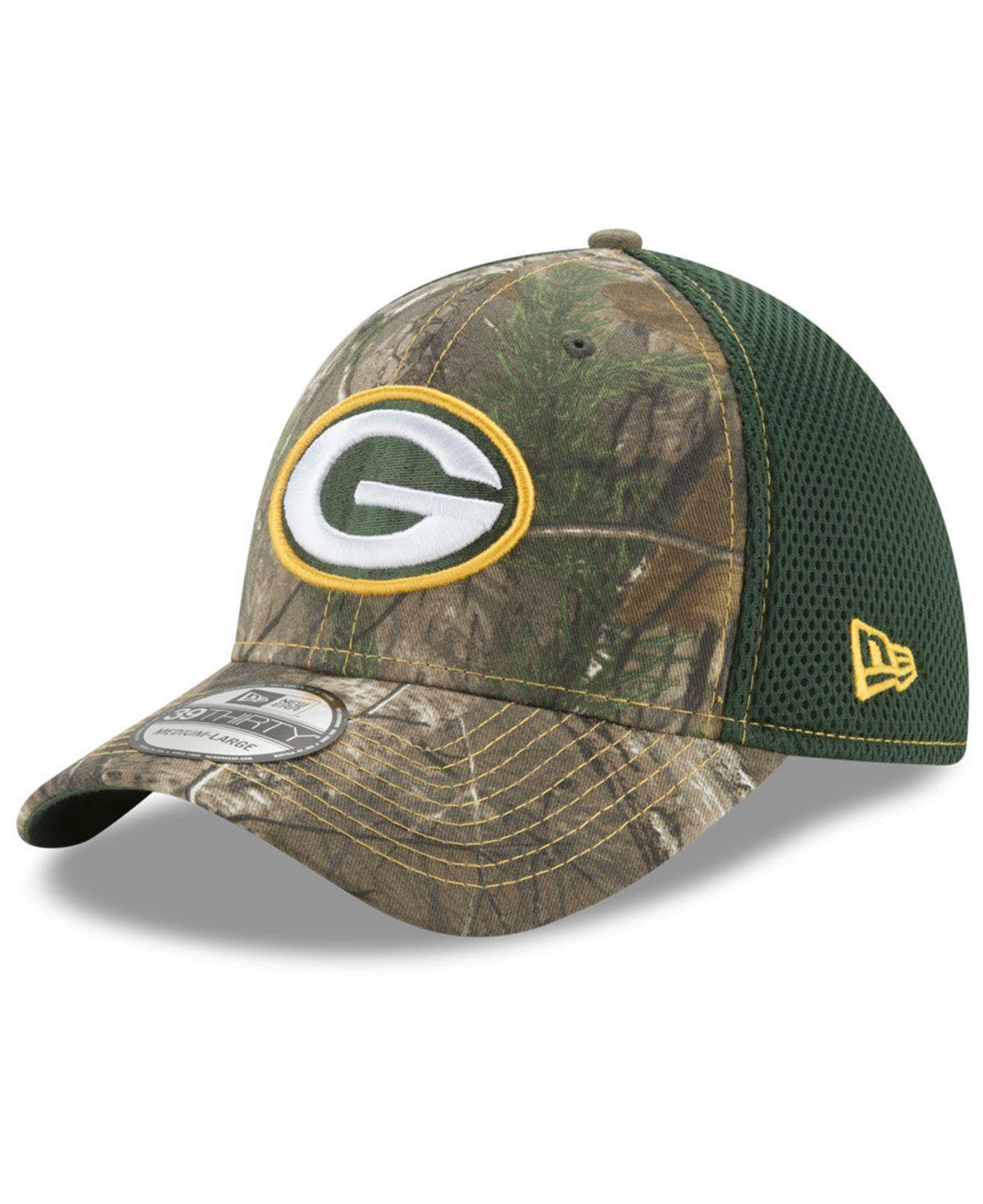 4392fe4d7d4 KTZ - Green Bay Packers Realtree Camo Team Color Neo 39thirty Cap for Men -  Lyst. View fullscreen