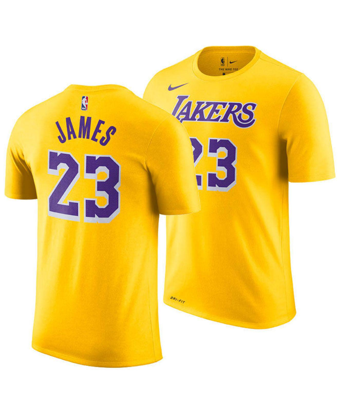 2eba4f23d Lyst - Nike Lebron James Los Angeles Lakers Icon Player T-shirt in ...