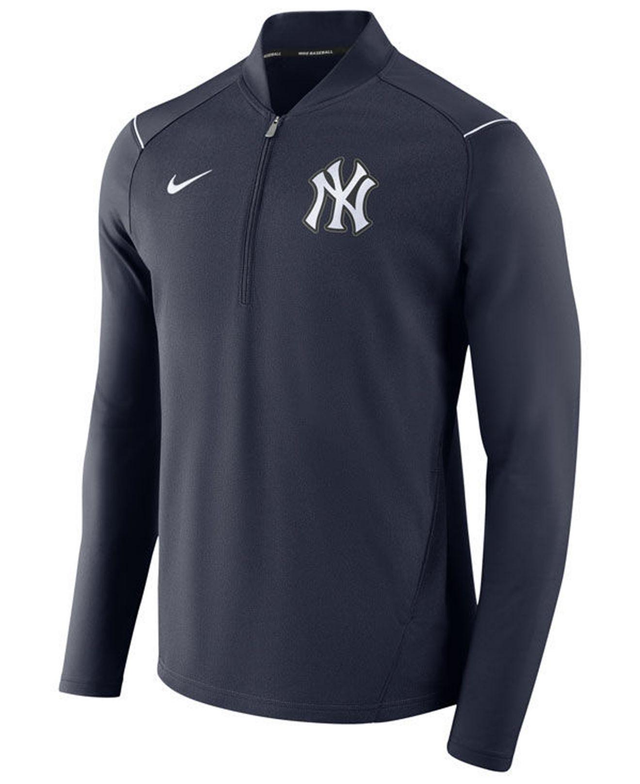 half off fea2f 5623d Men's Blue New York Yankees Dry Elite Half-zip Pullover