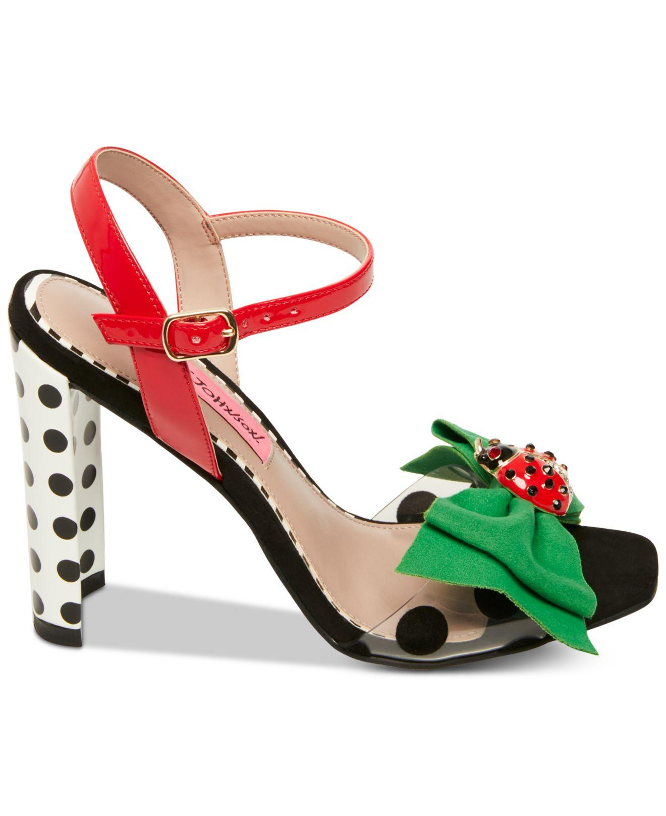 05a6ecc137b Lyst betsey johnson bini dress sandals in green jpg 1320x1616 Bini rinah  gianni platform wedge sandals