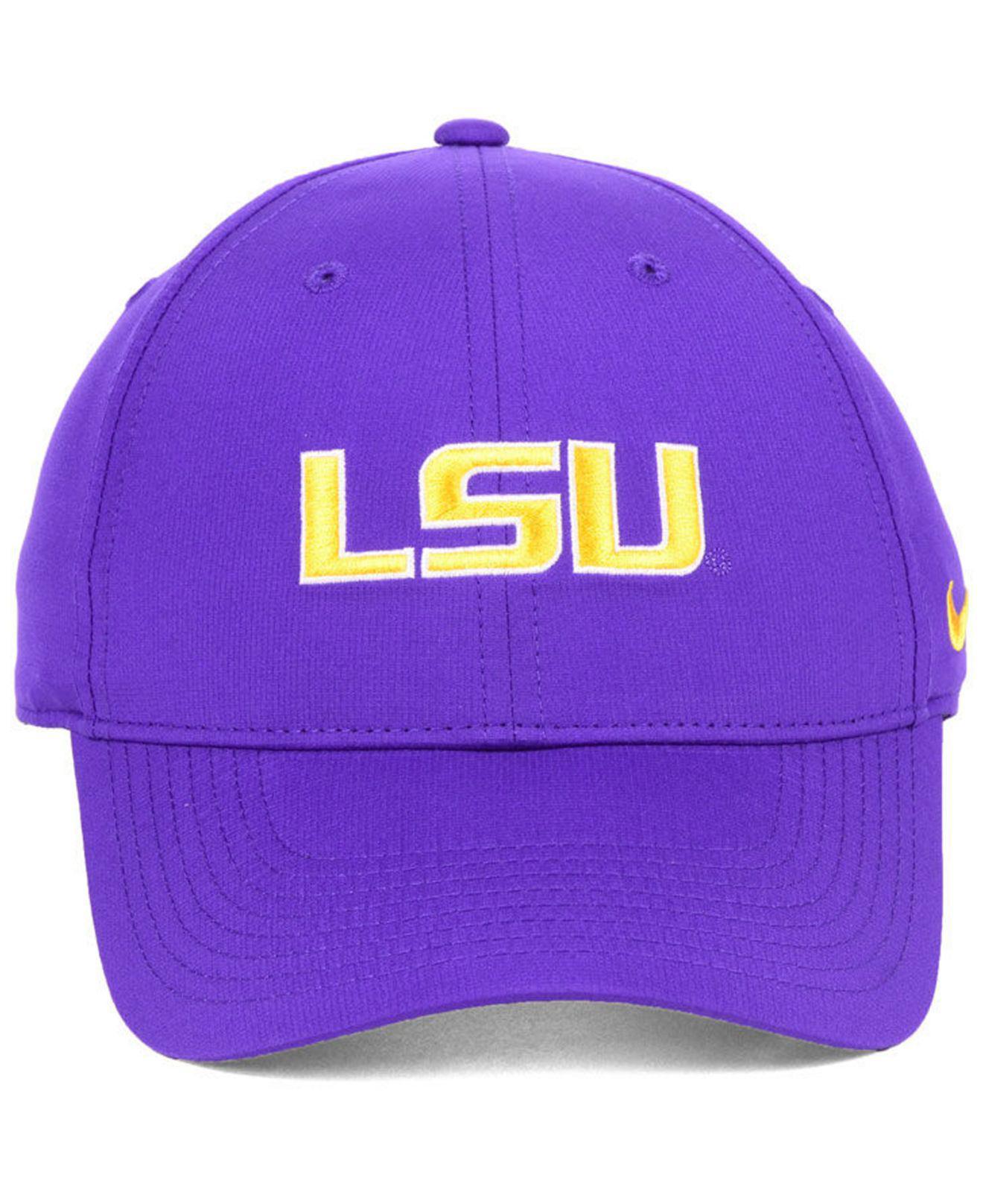 hot sale online 8c048 03885 Lyst - Nike Lsu Tigers Dri-fit Adjustable Cap in Purple for Men