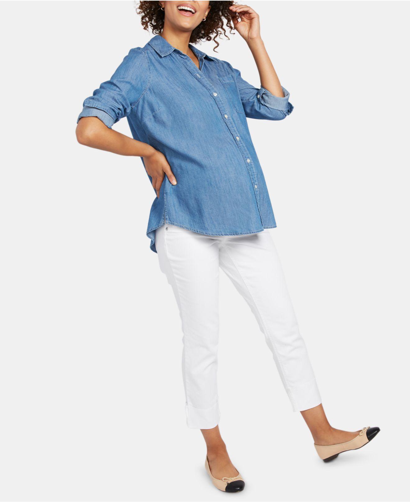 430c77fc1de72 Lyst - Indigo Blue Motherhood Maternity Skinny Jeans in White
