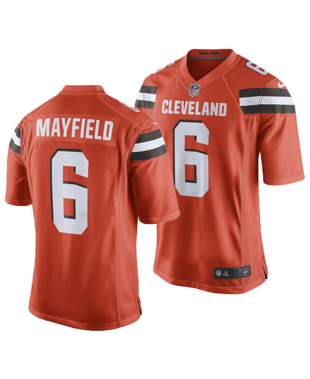 size 40 b6041 84fef Men's Orange Baker Mayfield Cleveland Browns Game Jersey