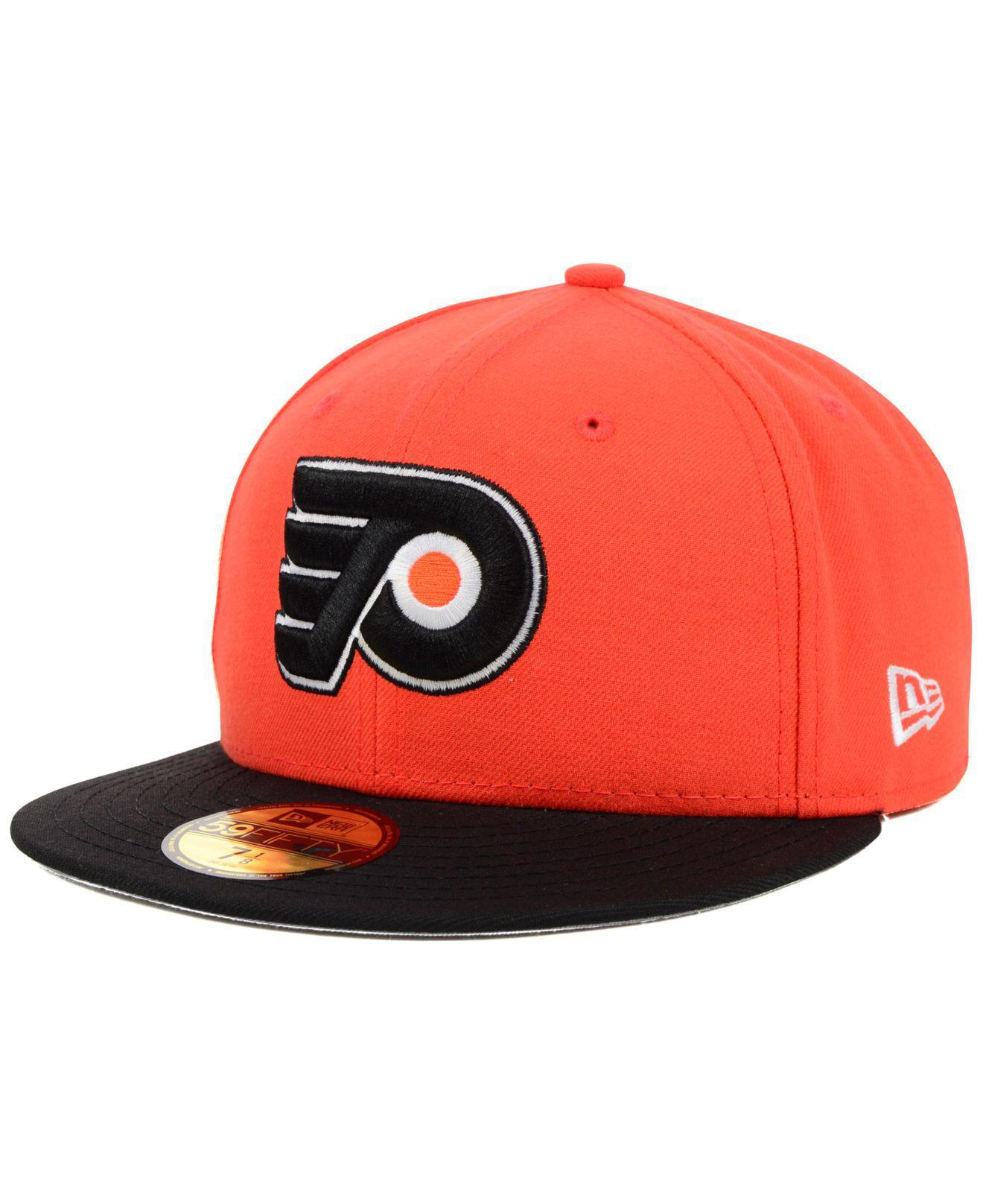 best cheap bcc02 eb399 KTZ. Men s Orange Philadelphia Flyers Basic 59fifty Cap
