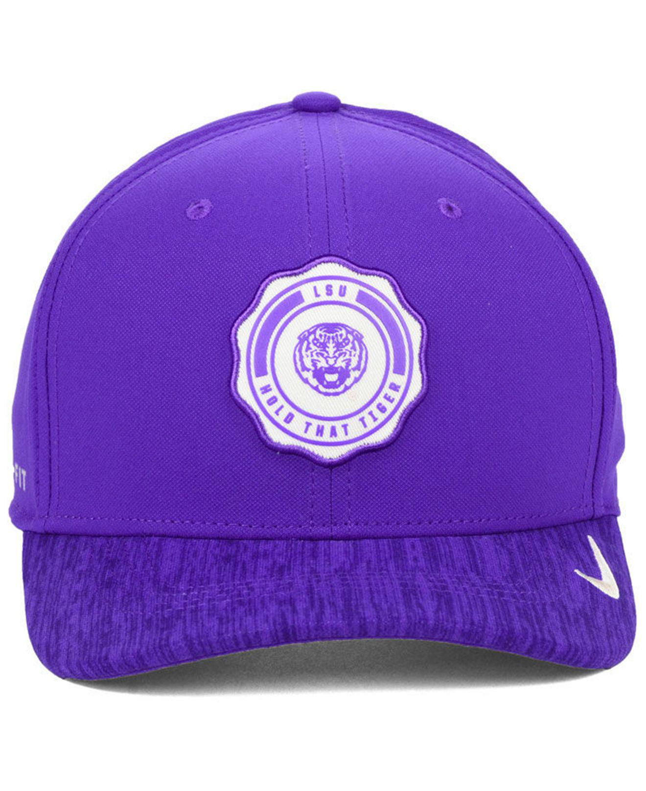 low priced b8778 ad587 ... college classic 39thirty flex hat 0935b bd0dc  switzerland lyst nike  lsu tigers rivalry cap in purple for men fb149 73de2