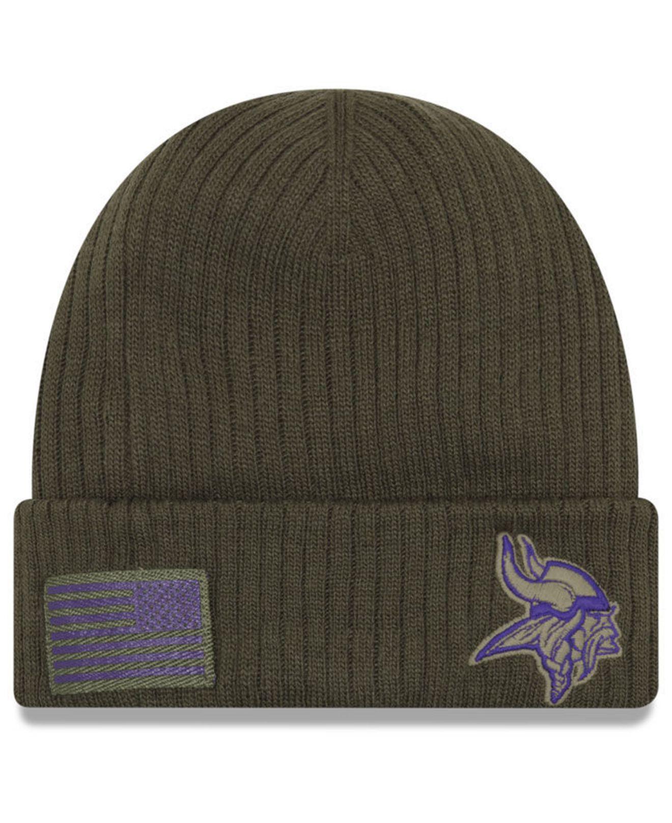 30b75b2e1 Lyst - Ktz Minnesota Vikings Salute To Service Cuff Knit Hat in ...