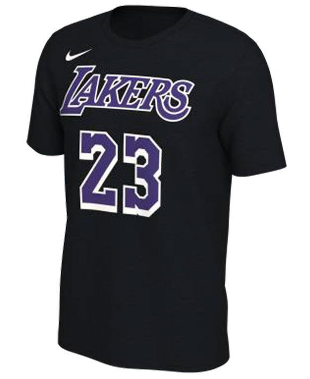 Nike Cotton Lebron James Los Angeles Lakers Dark Icon Player T ...