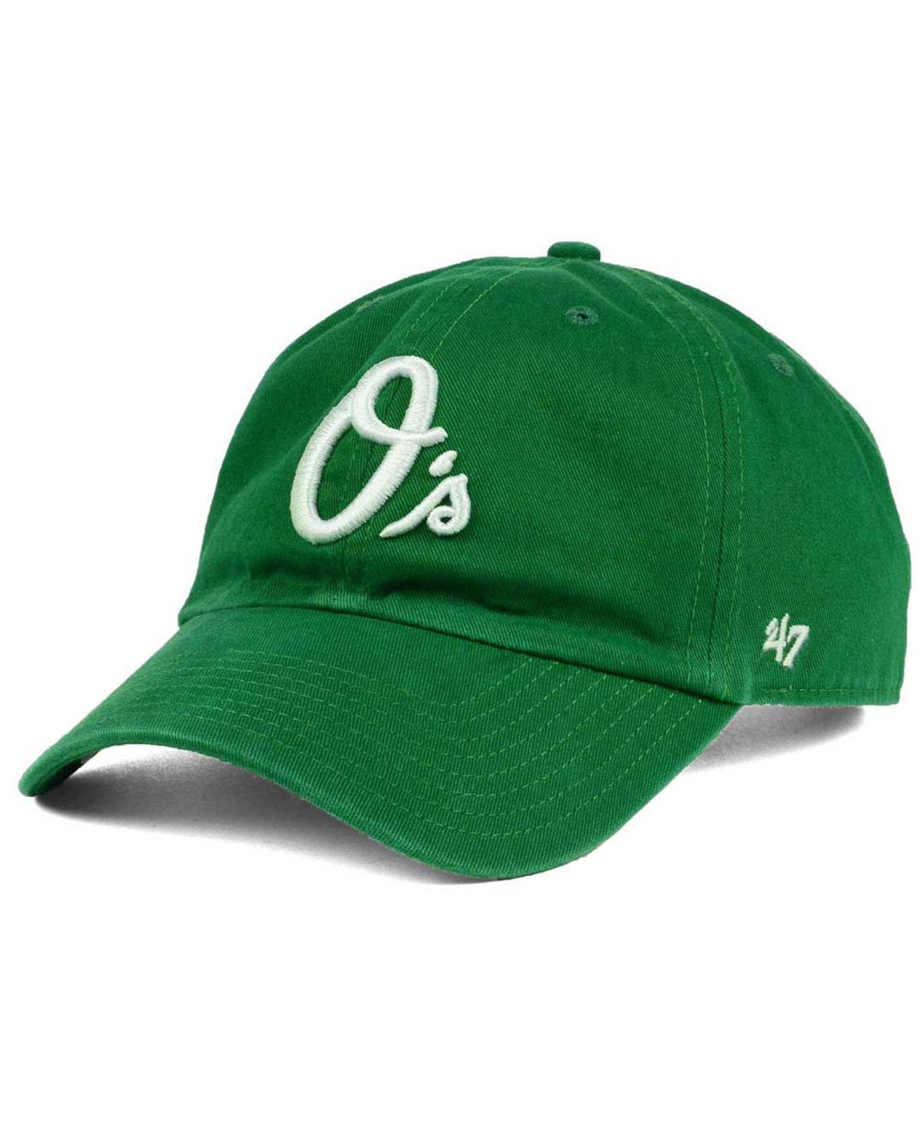 size 40 c3a4d c3d5d ... discount code for lyst 47 brand baltimore orioles kelly white clean up  cap in green e6c03