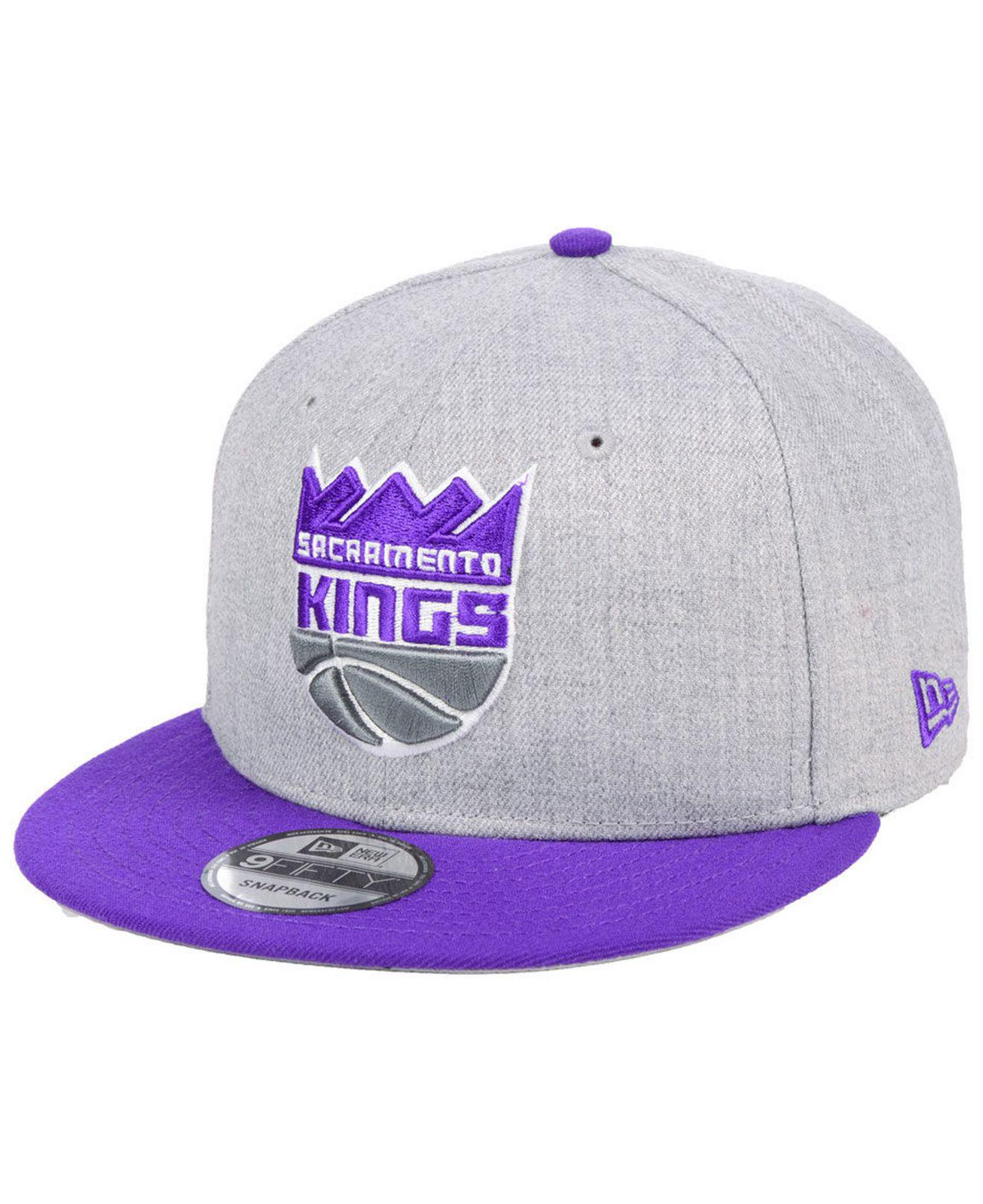 size 40 1405b 448d4 ... where to buy ktz. purple sacramento kings heather gray 9fifty snapback  cap 514c8 e33e5