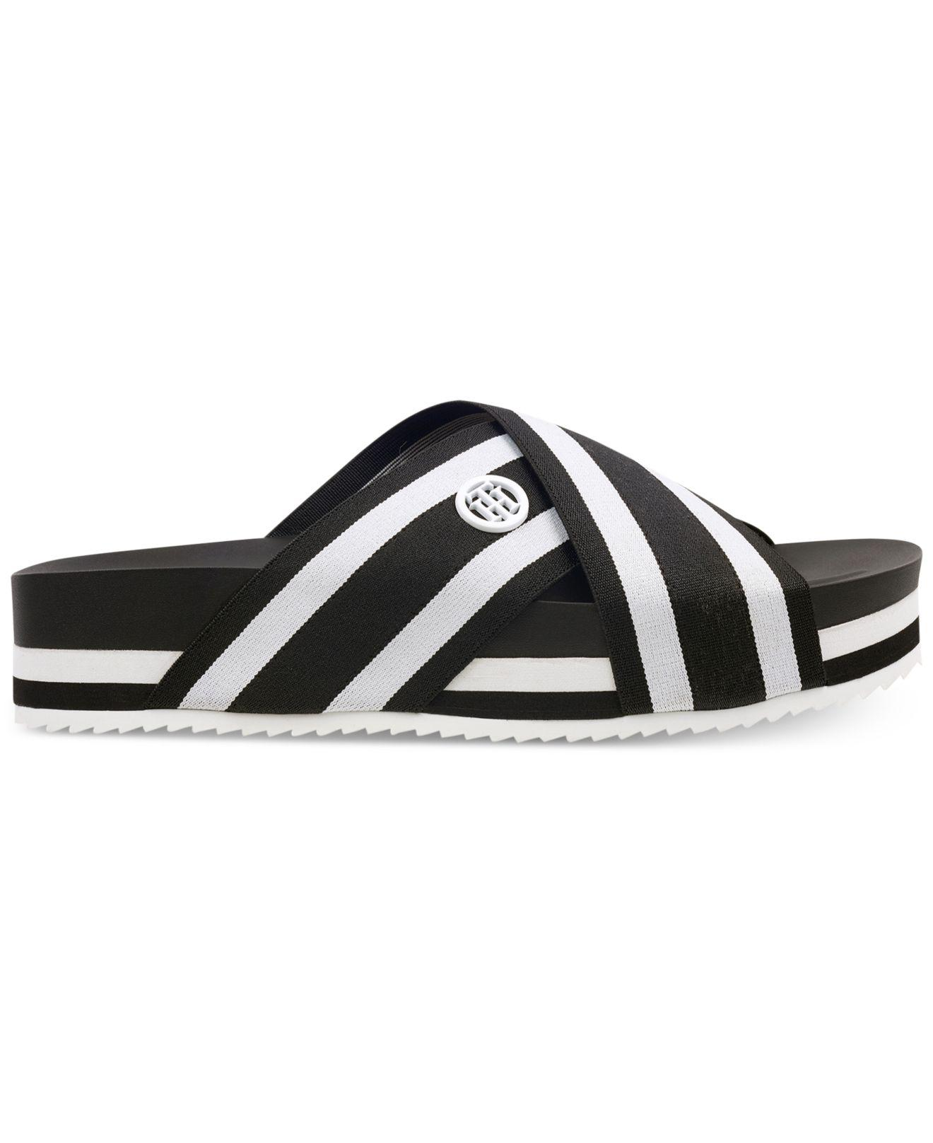 2d439029a Lyst - Tommy Hilfiger Blysse Flatform Sandals in Black