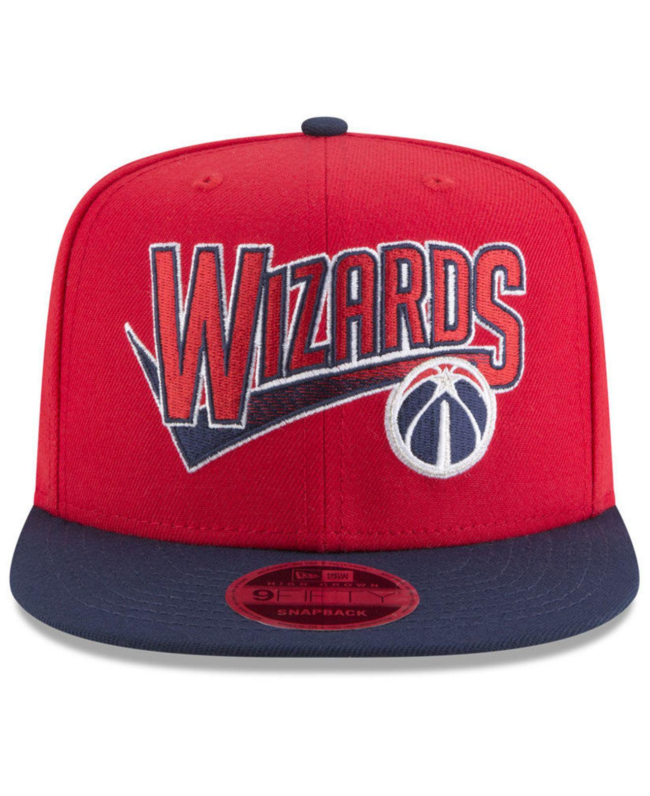 free shipping fb5c7 b74d8 ... best price lyst ktz washington wizards retro tail 9fifty snapback cap  in red for men a86bb