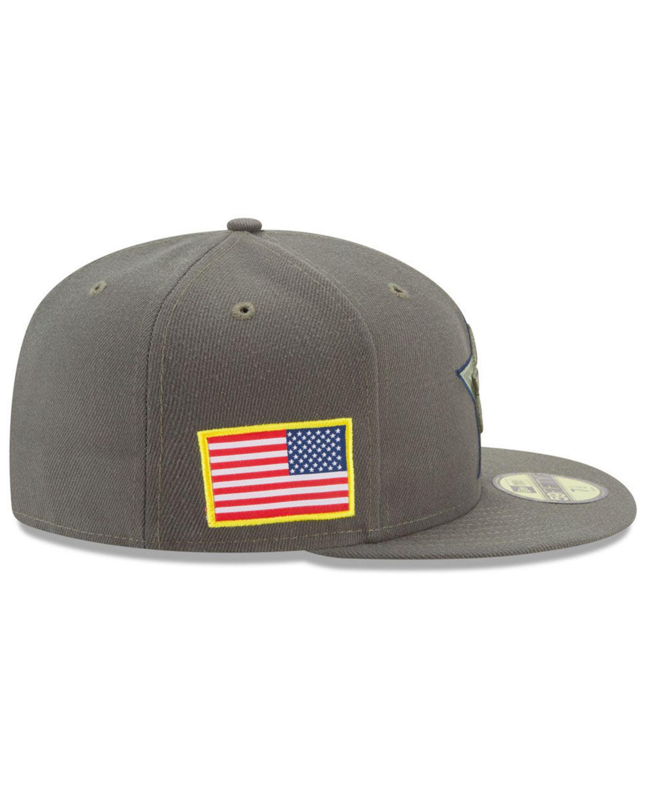 32ce5faa82909 Lyst - KTZ Dallas Cowboys Salute To Service 59fifty Fitted Cap in ...