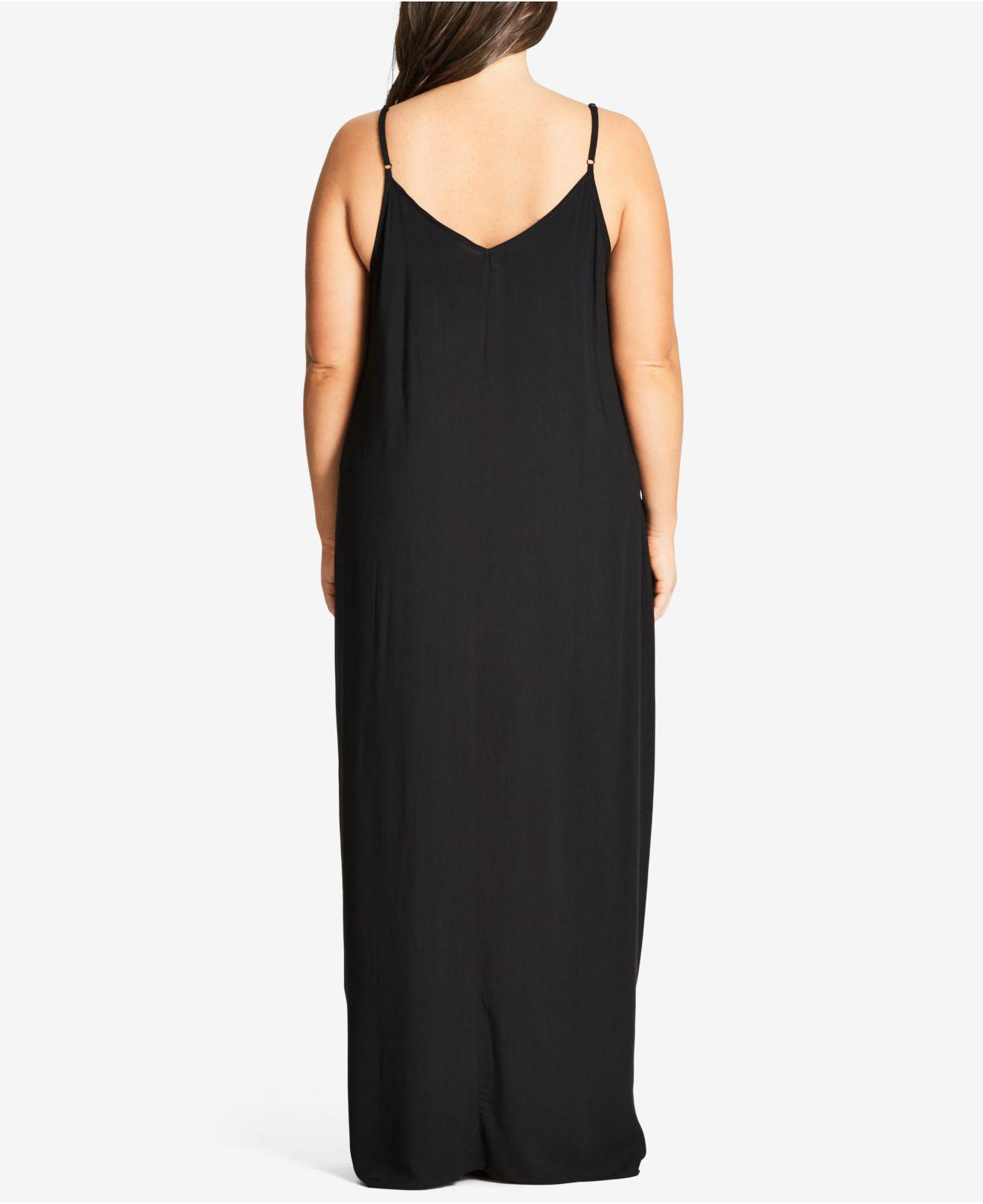 9740df5ae9 Lyst - City Chic V-neck Maxi Dress in Black - Save 51%