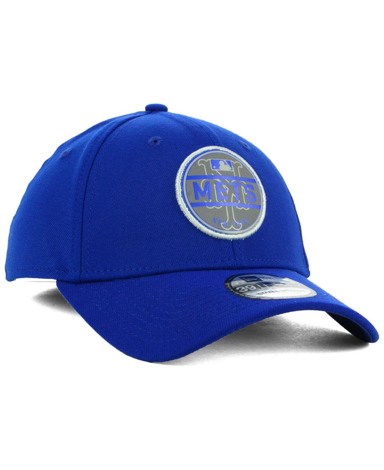 size 40 b817d 28d9e Lyst - KTZ New York Mets Circle Reflect 39thirty Stretch Fitted Cap ...