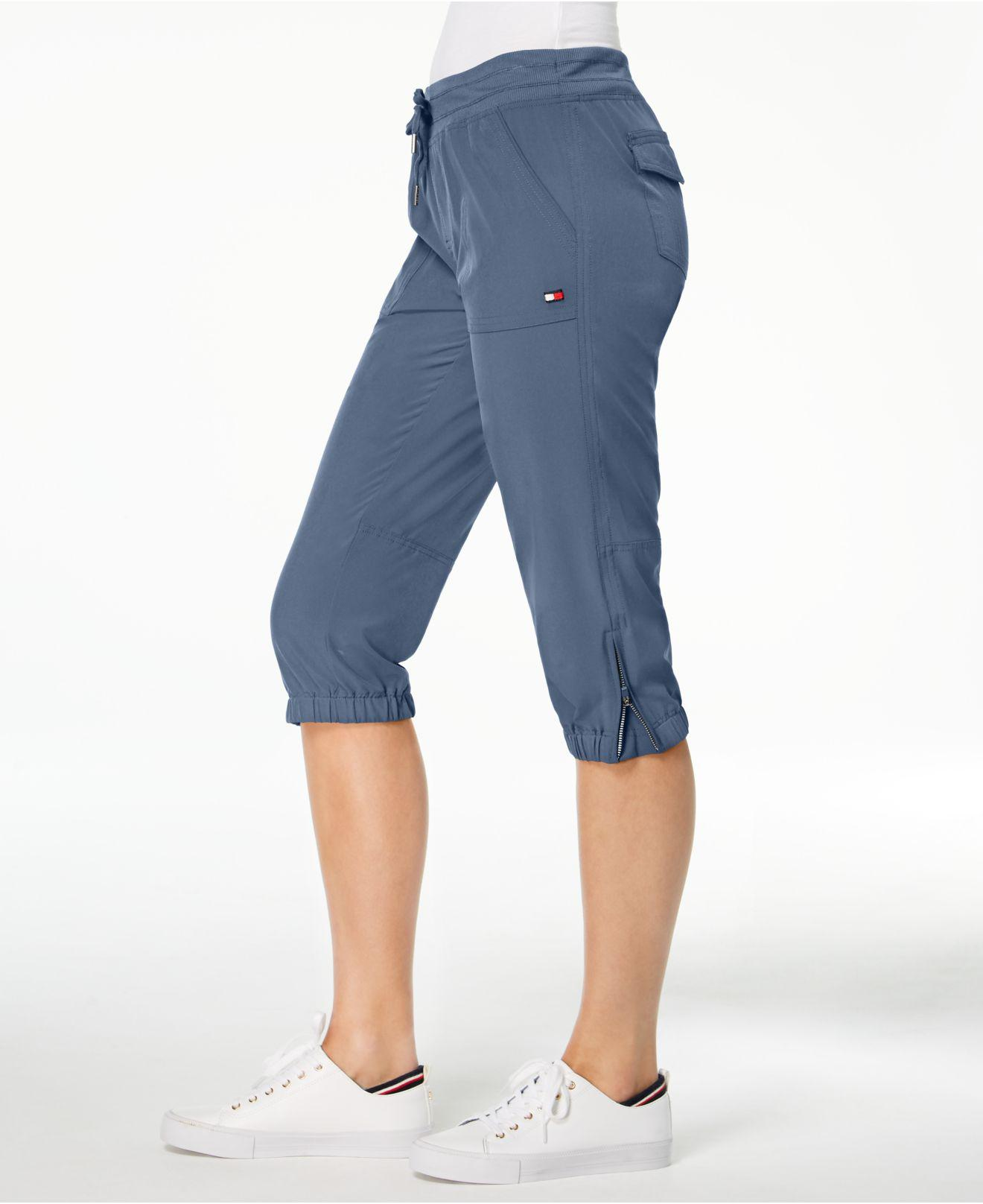 cf26825277 Tommy Hilfiger Sport Zip-detail Cargo Capri Pants, Created For ...