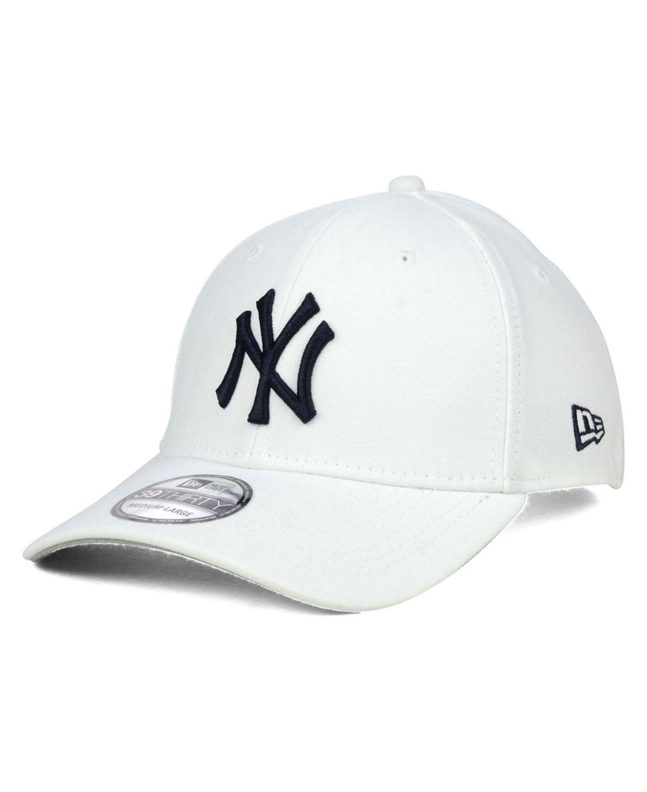 0d9d9098bc0b4a ... best price ktz. mens white new york yankees core classic 39thirty cap  b6e1f 32433