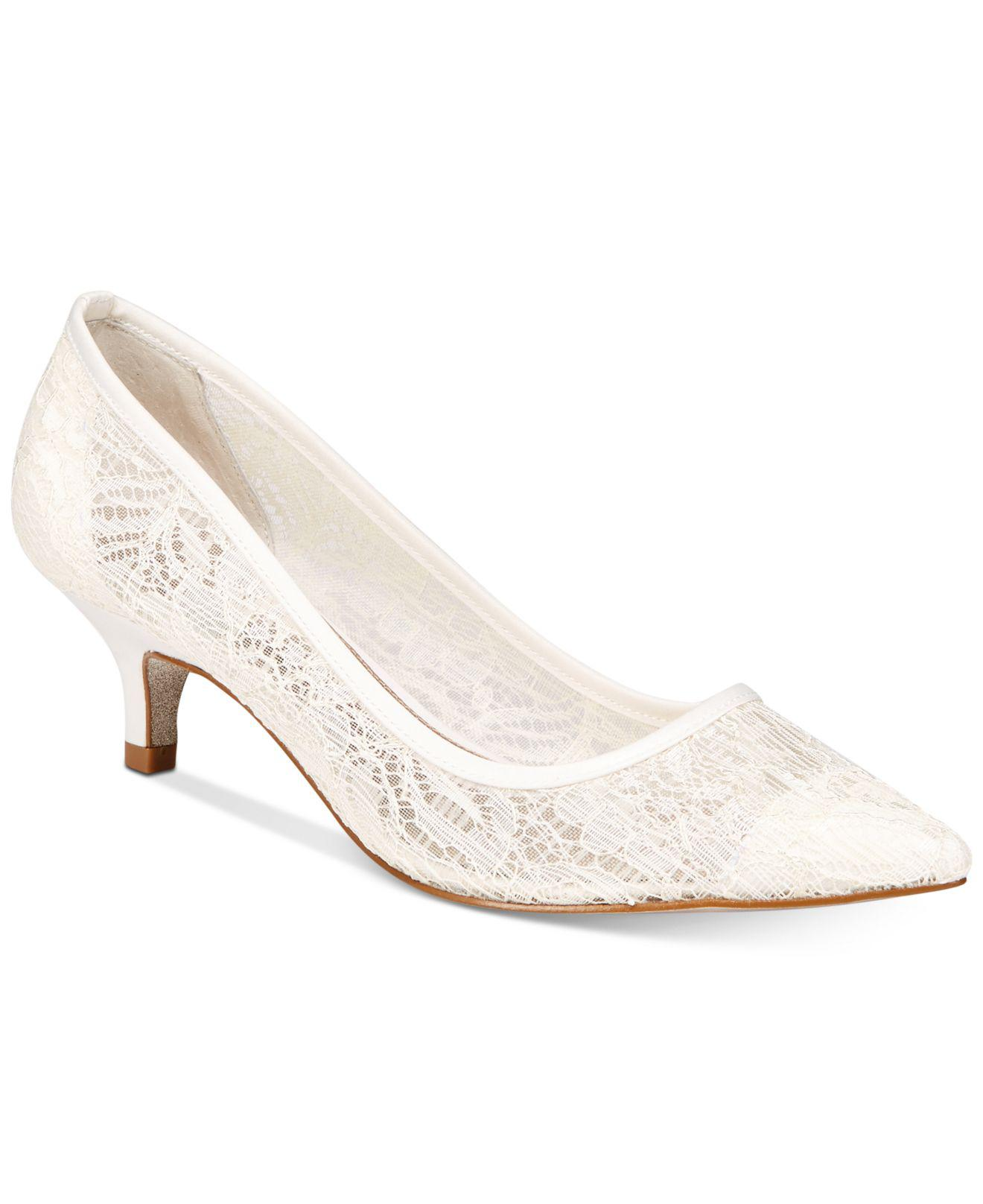 4972f84d6df Lyst - Adrianna Papell Lois Lace Evening Pumps in White - Save 31%